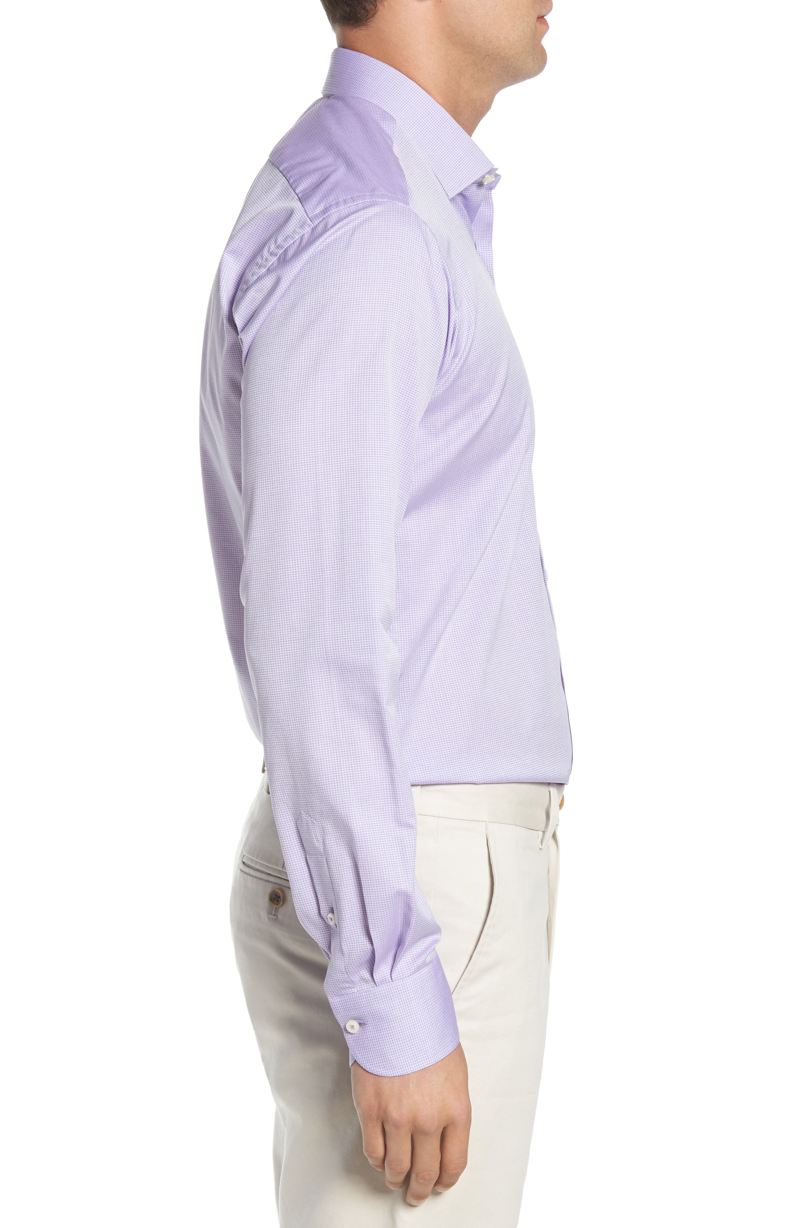 Regular Fit Solid Dress Shirt,                             Alternate thumbnail 4, color,                             500