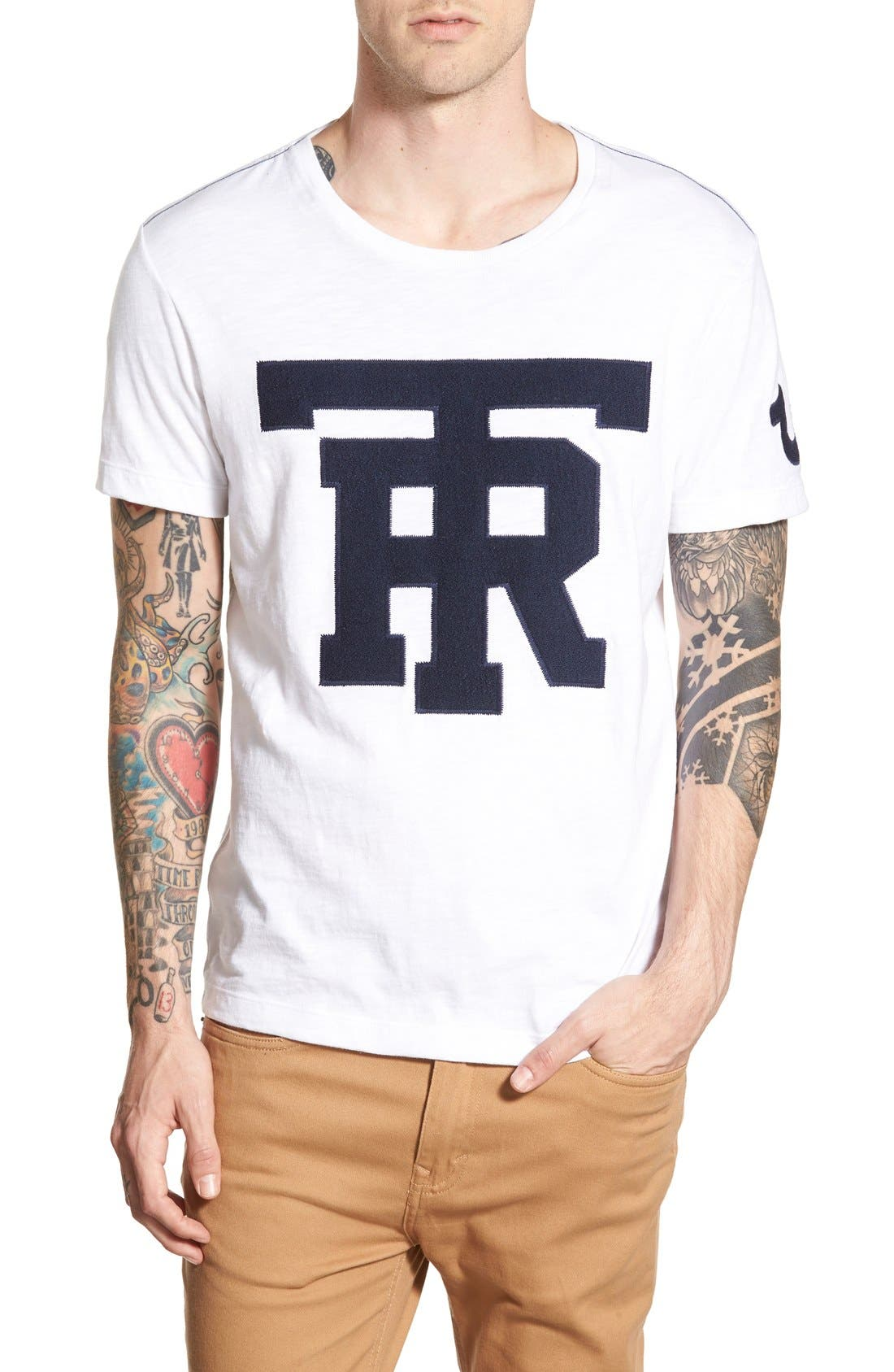 'University of TR' Graphic T-Shirt,                             Main thumbnail 1, color,                             100
