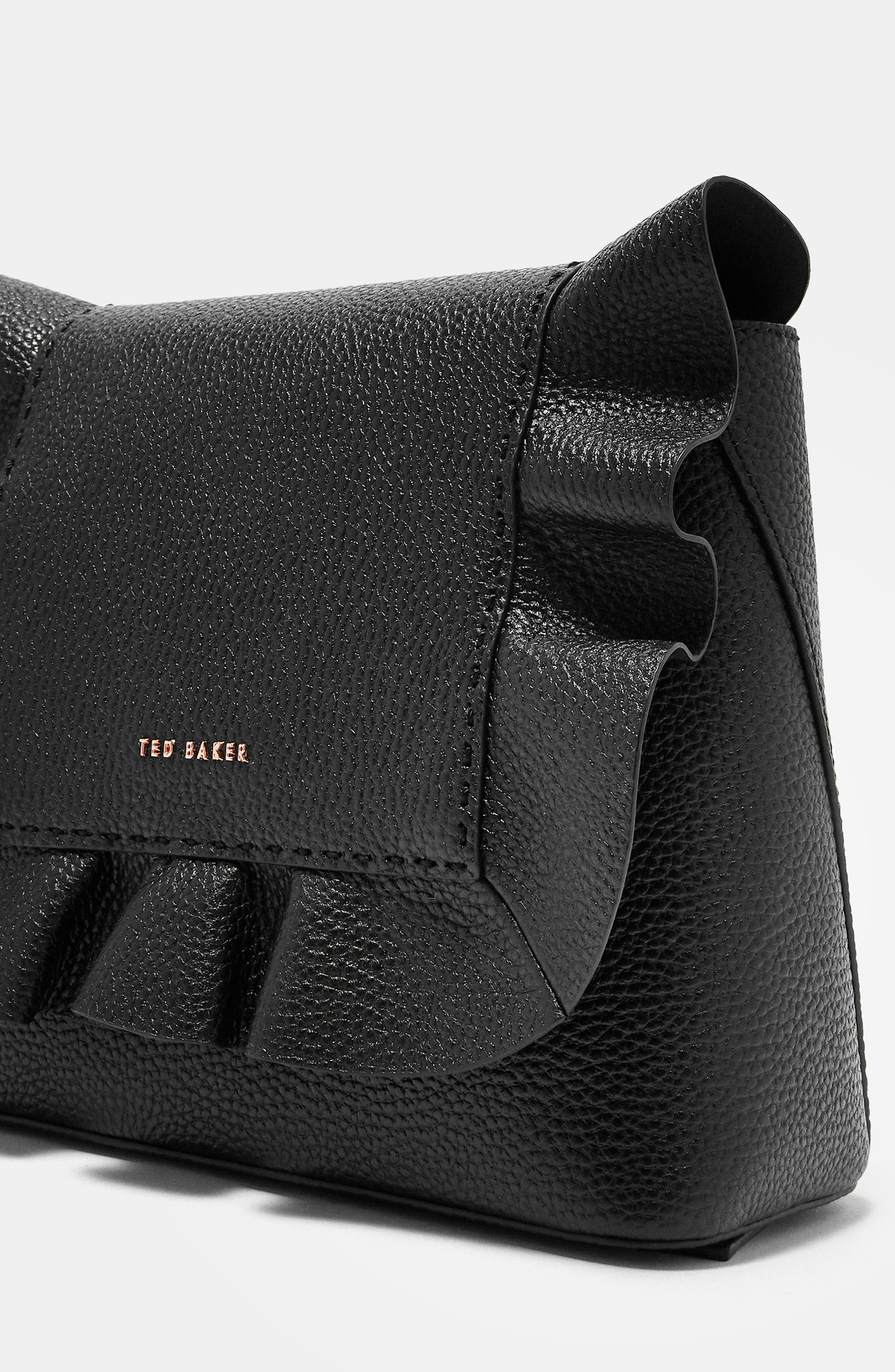 Rammira Leather Convertible Backpack,                             Alternate thumbnail 4, color,                             001