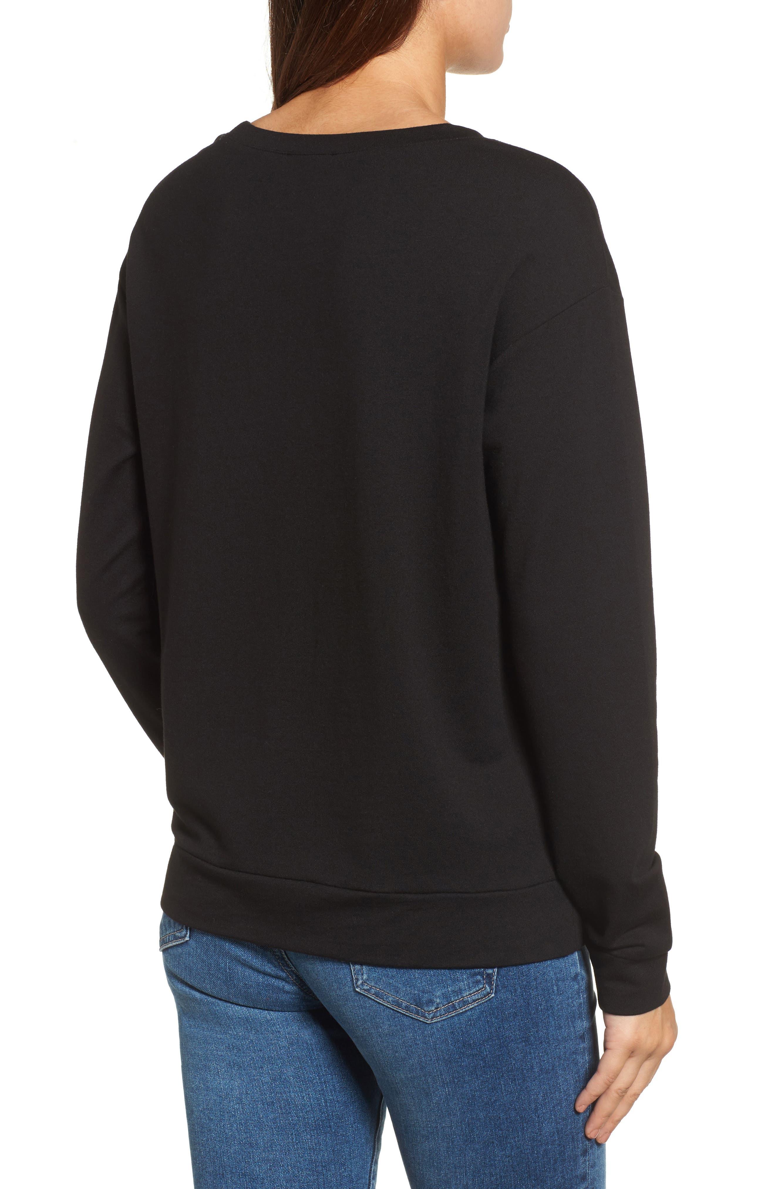 Embellished Sweatshirt,                             Alternate thumbnail 2, color,                             001