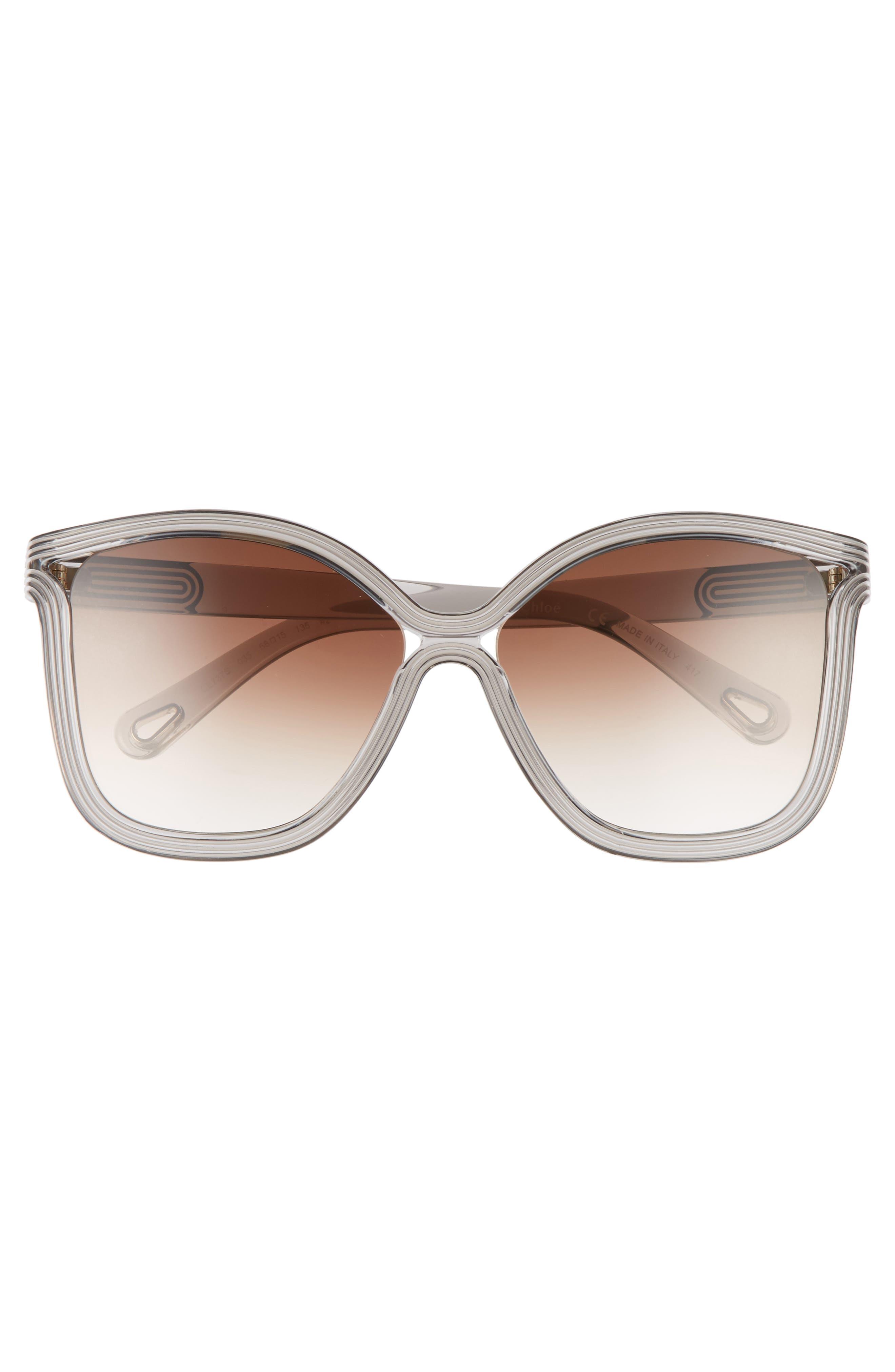 Grooves 58mm Rectangular Sunglasses,                             Alternate thumbnail 10, color,