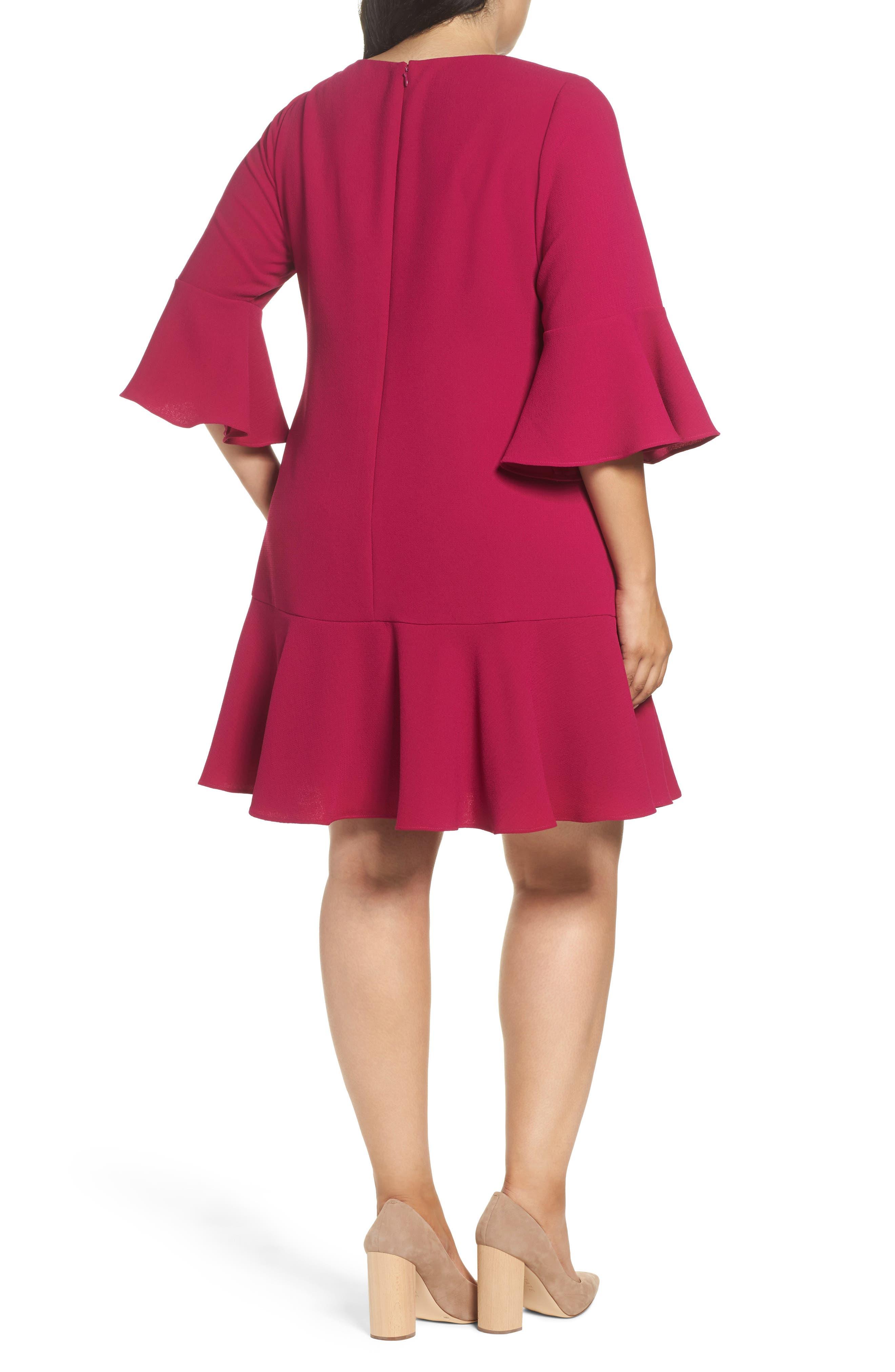 Ruffled Flounce A-Line Dress,                             Alternate thumbnail 2, color,                             678