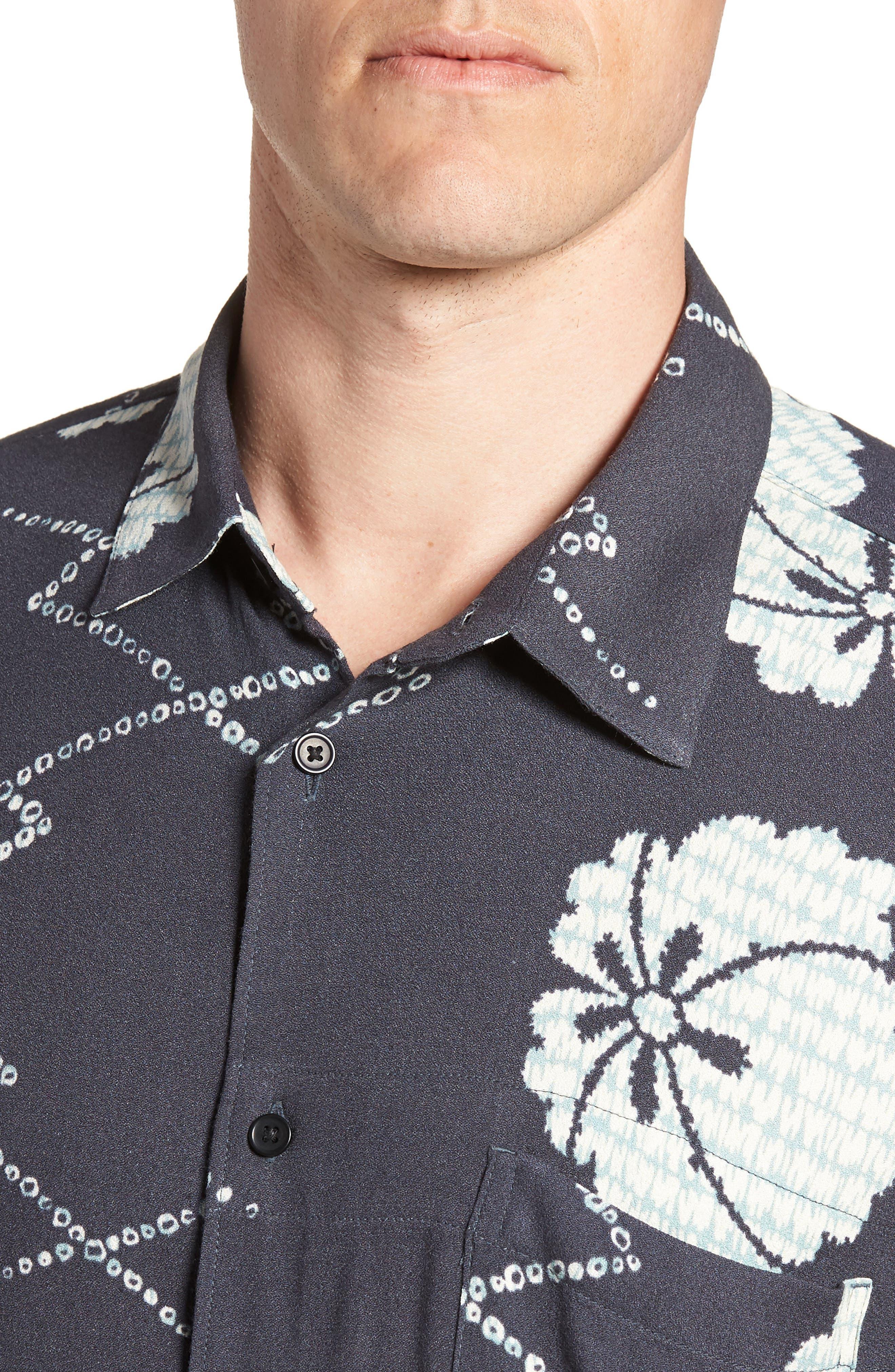 Oversize Safari Woven Shirt,                             Alternate thumbnail 4, color,                             001