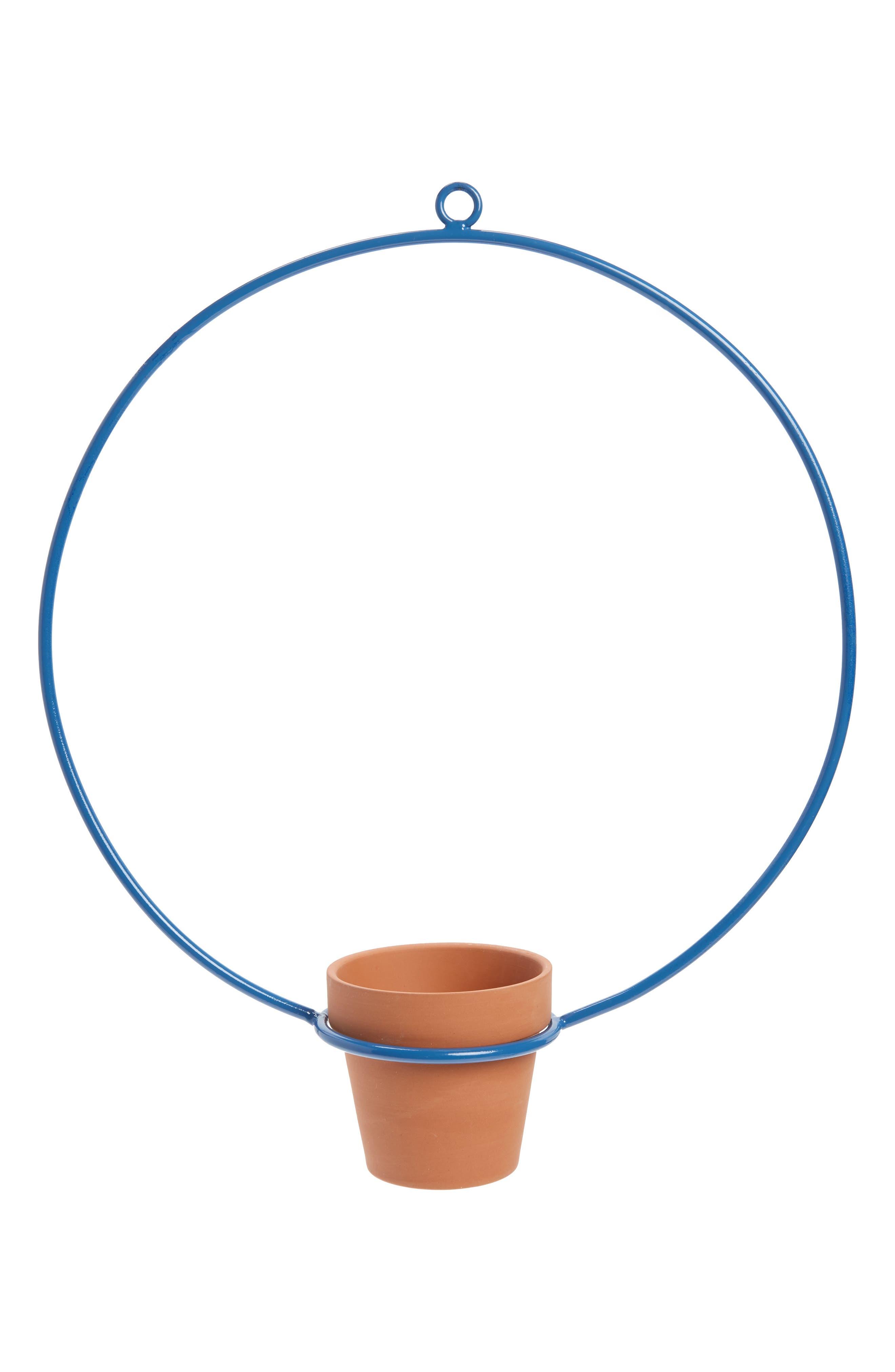 Circle Small Hanging Planter,                             Main thumbnail 1, color,                             BLUE