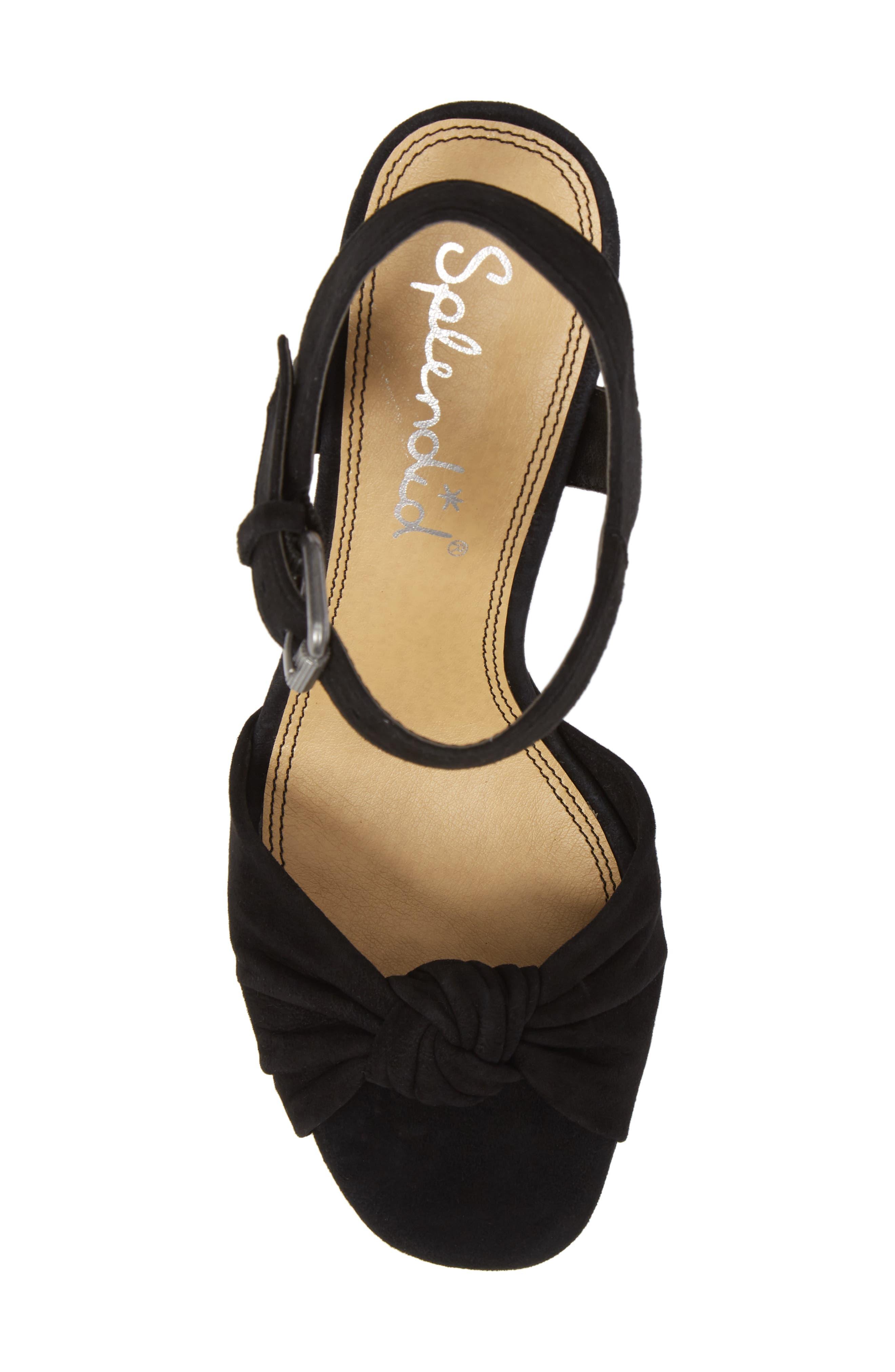 Bates Platform Sandal,                             Alternate thumbnail 5, color,                             BLACK SUEDE