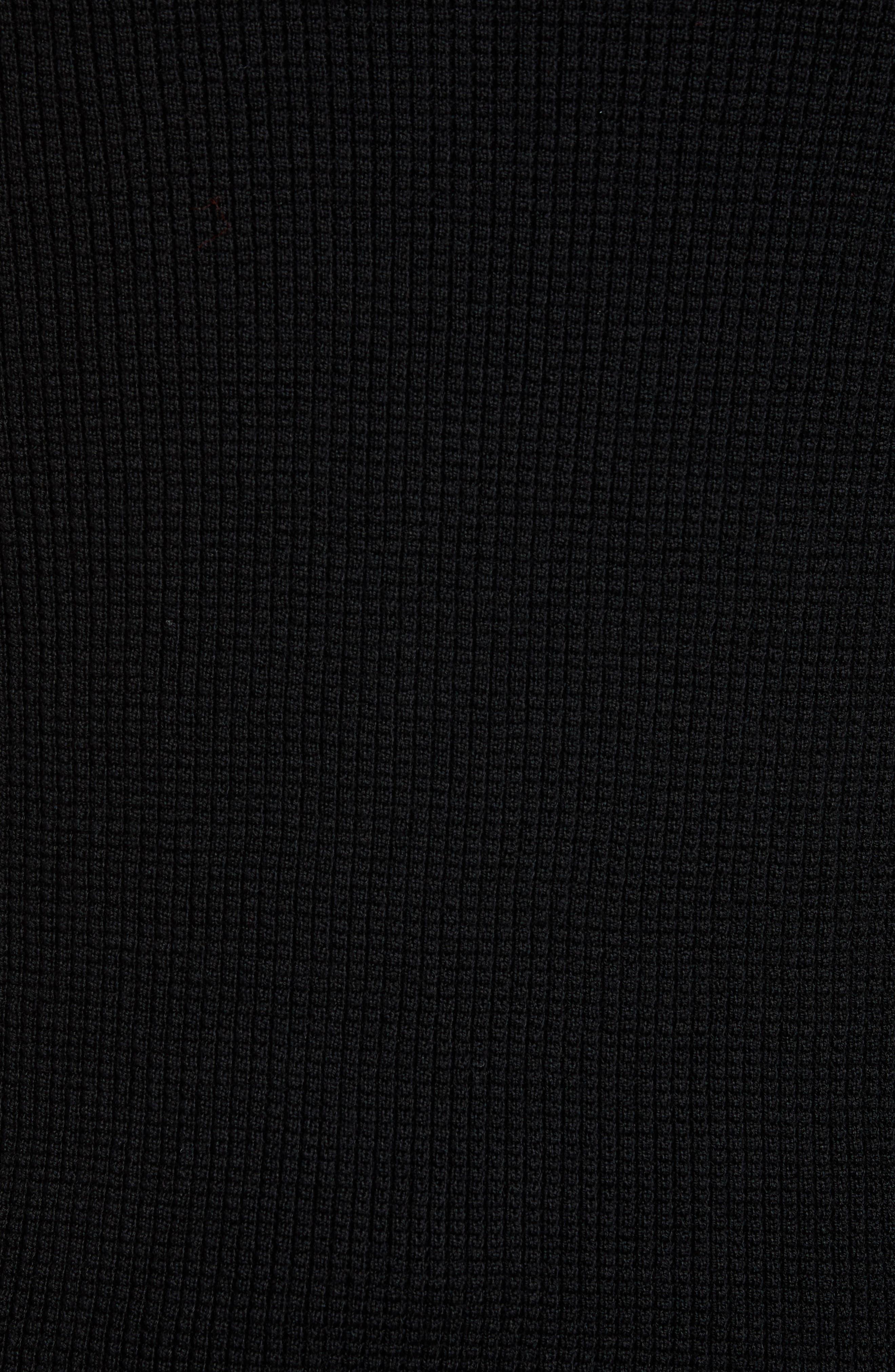 Trim Fit Wool Zip Cardigan,                             Alternate thumbnail 5, color,                             001