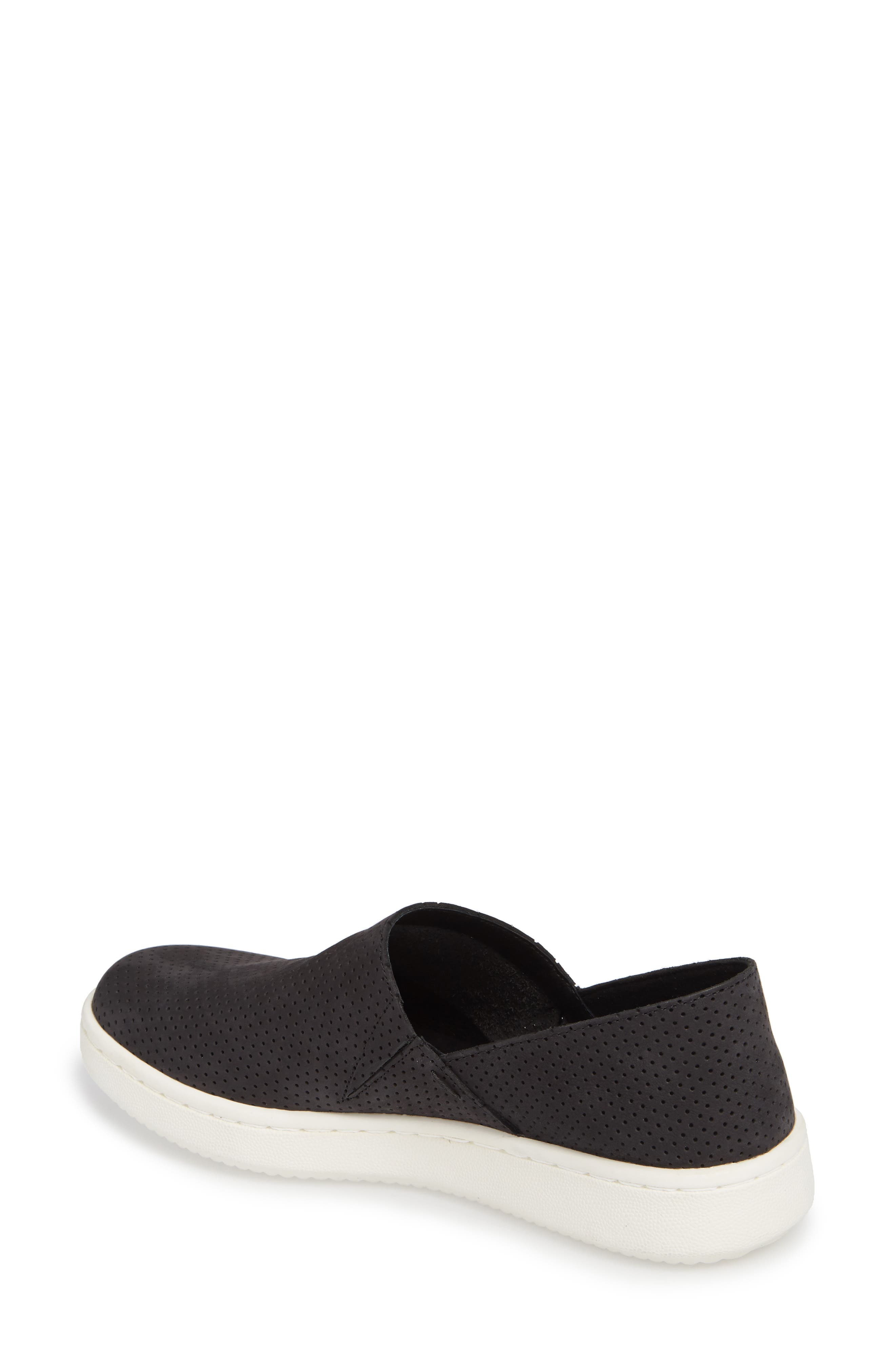 Panda Perforated Slip-On Sneaker,                             Alternate thumbnail 2, color,                             001