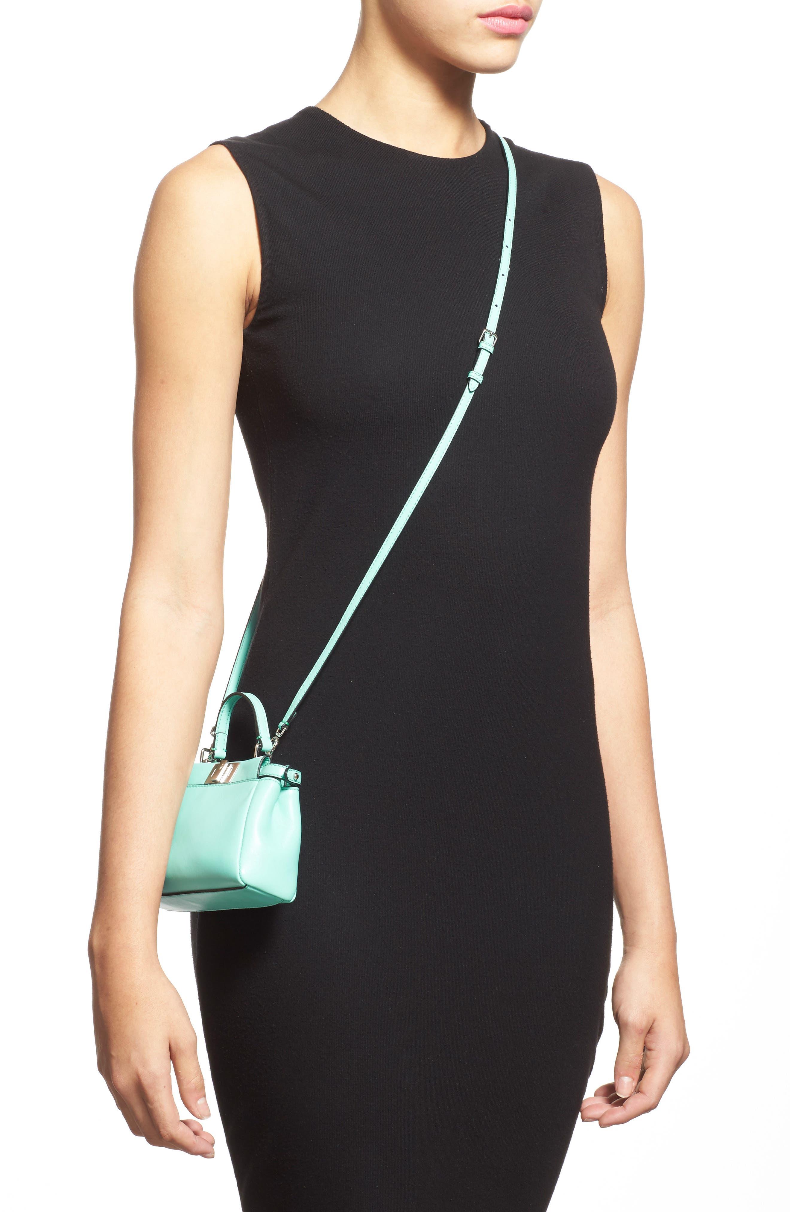 'Micro Peekaboo' Nappa Leather Bag,                             Alternate thumbnail 4, color,                             401