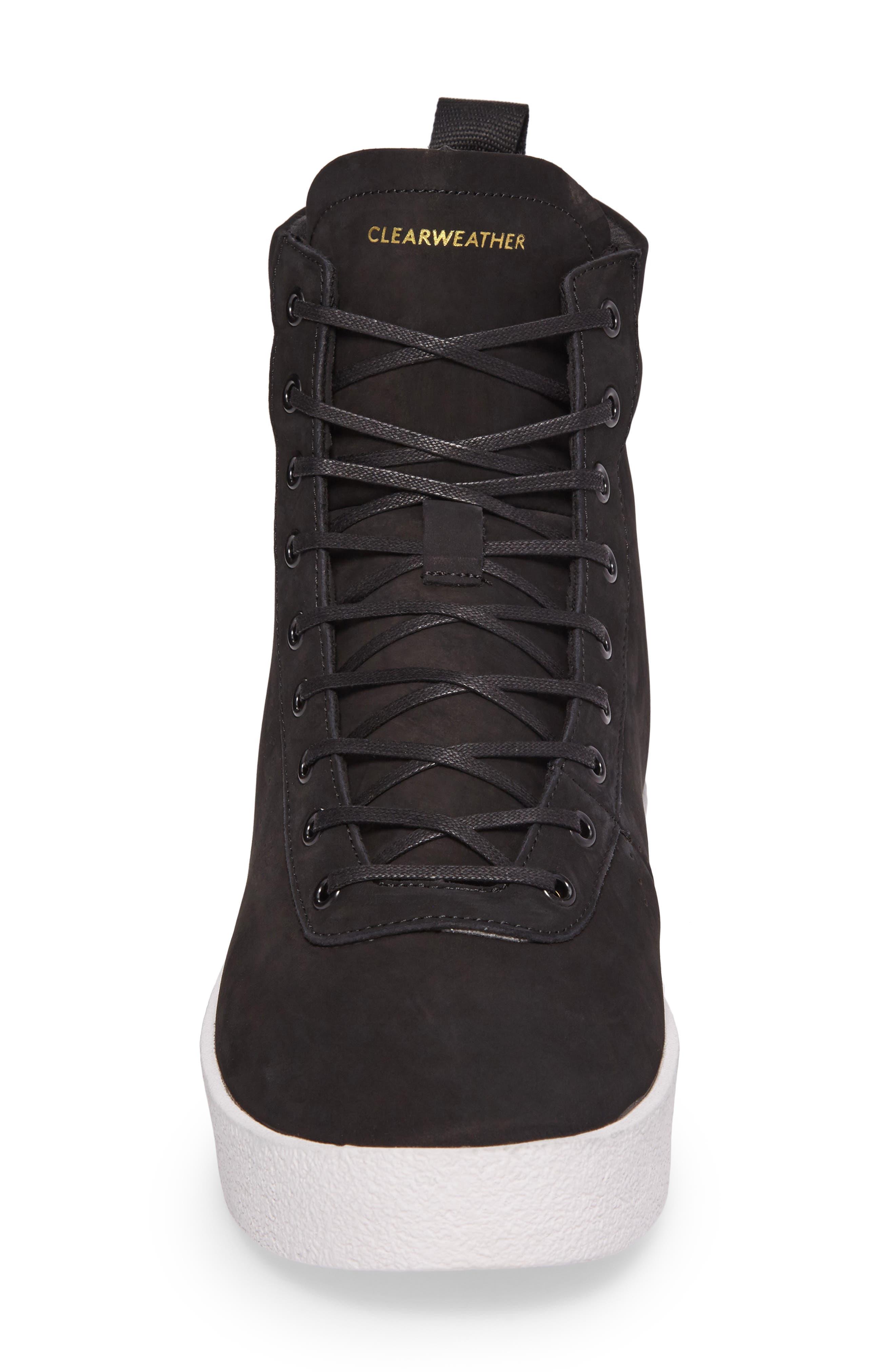 Highlander High Top Sneaker,                             Alternate thumbnail 4, color,                             001