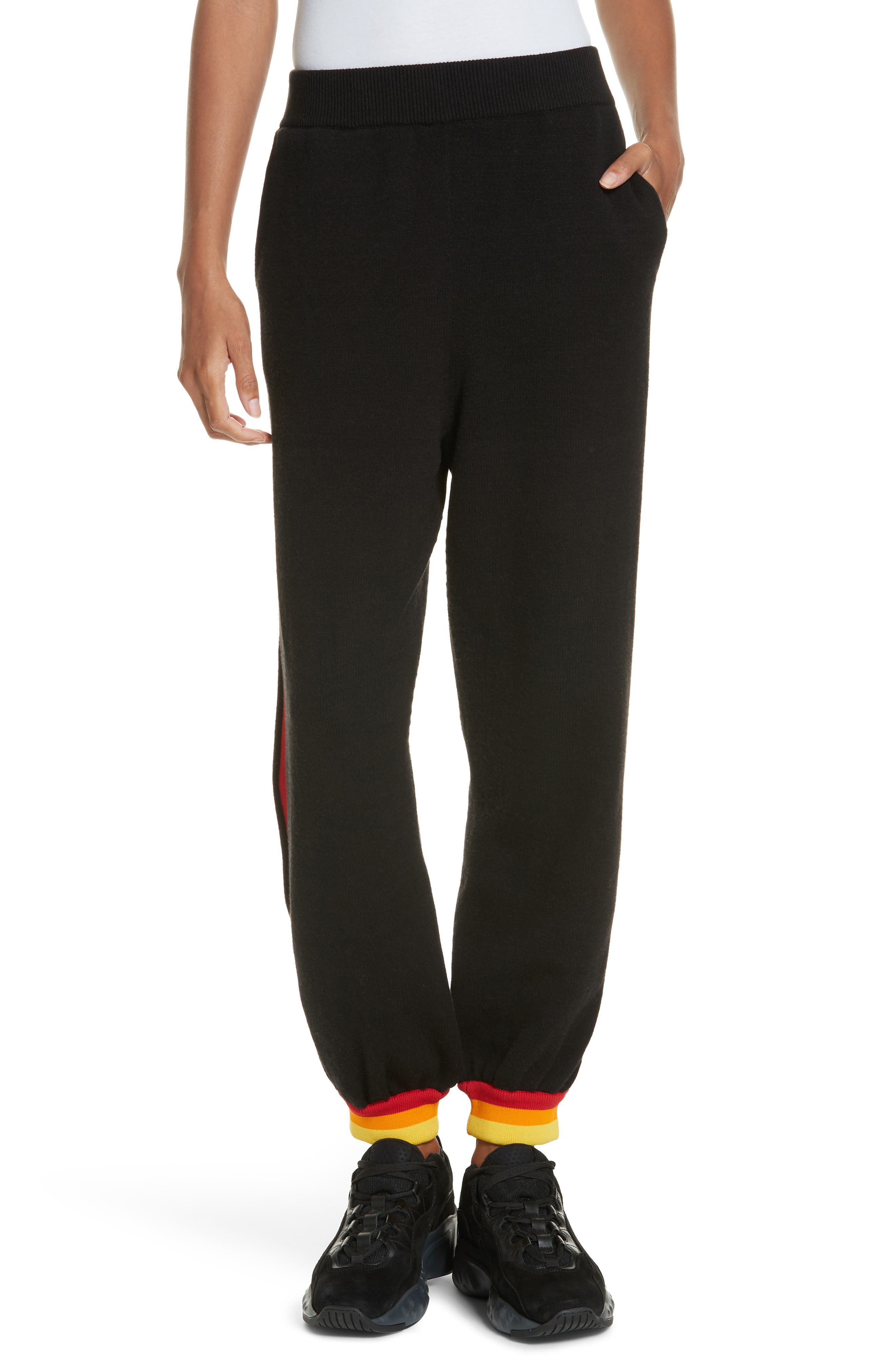 OPENING CEREMONY Unisex Jogger Pants, Main, color, BLACK MULTI