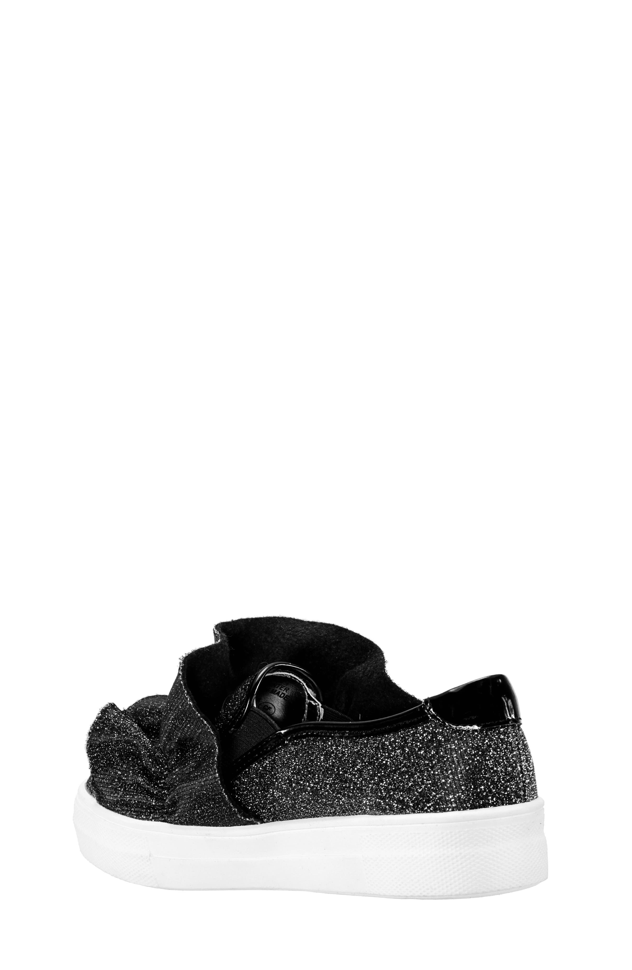 Ivani Slip-On Sneaker,                             Alternate thumbnail 2, color,                             BLACK SPARKLE FABRIC