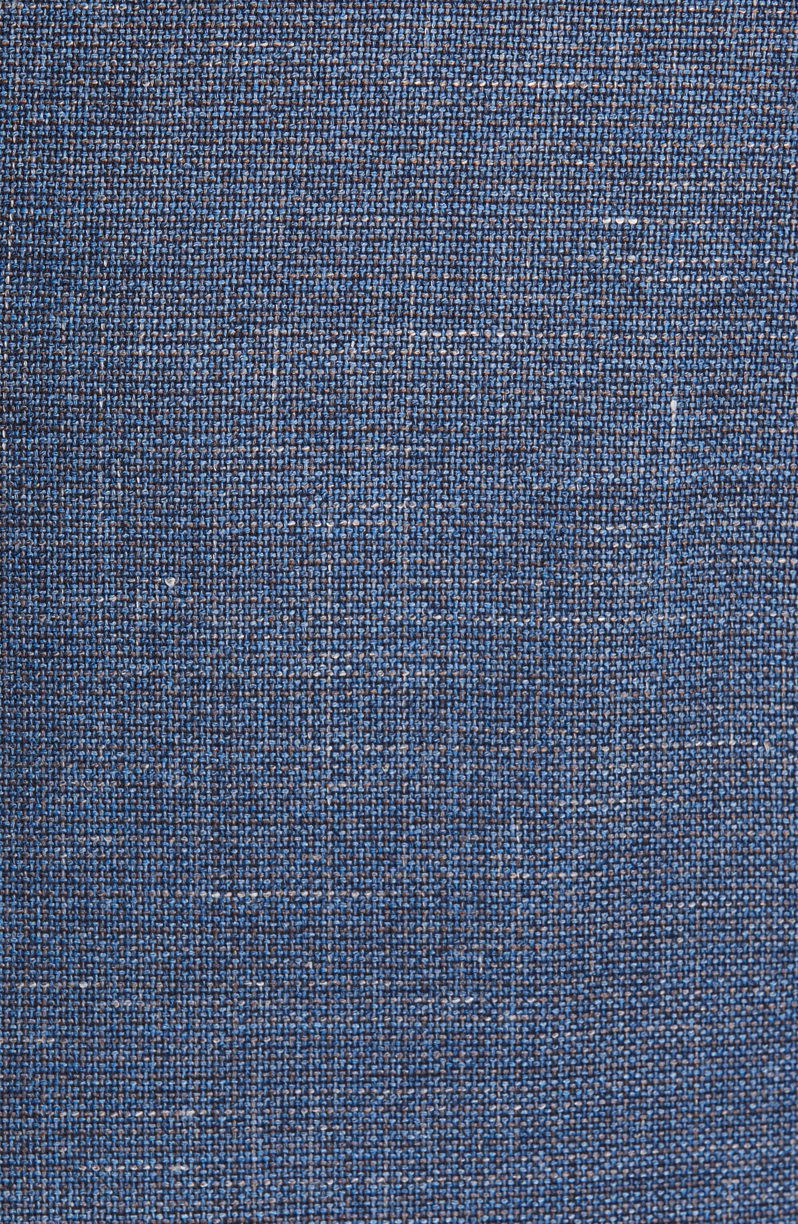 Trim Fit Wool Blend Sport Coat,                             Alternate thumbnail 6, color,                             FANCY BLUE