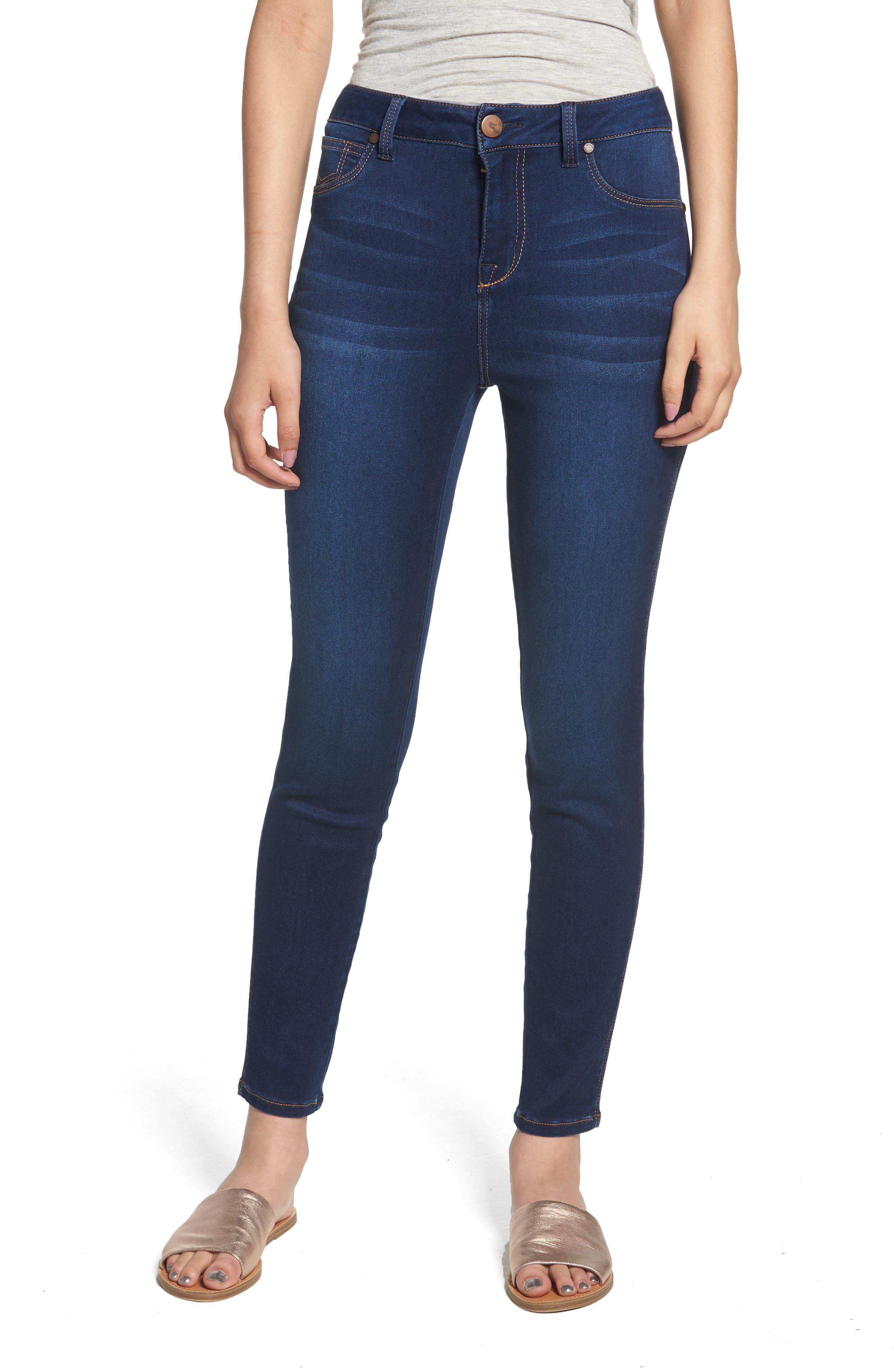 1822 DENIM,                             Butter High Rise Skinny Jeans,                             Main thumbnail 1, color,                             LENNOX