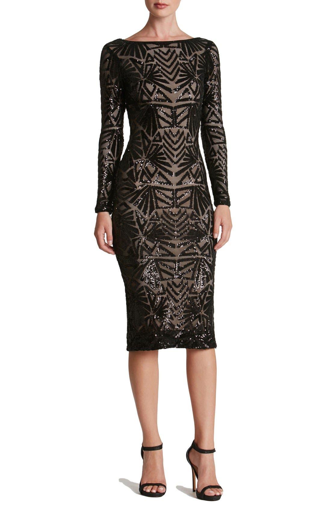 Emery Midi Dress,                             Main thumbnail 1, color,