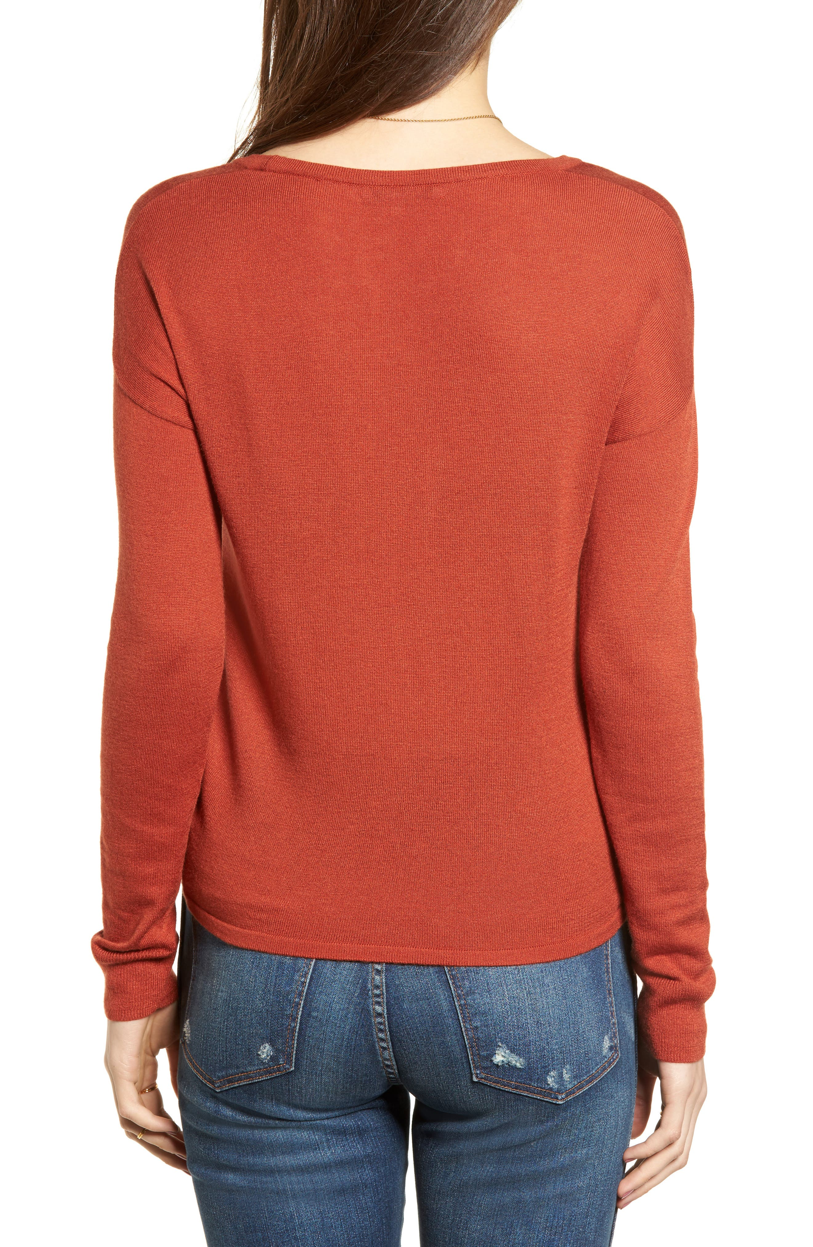 Modern Tie Front Sweater,                             Alternate thumbnail 8, color,