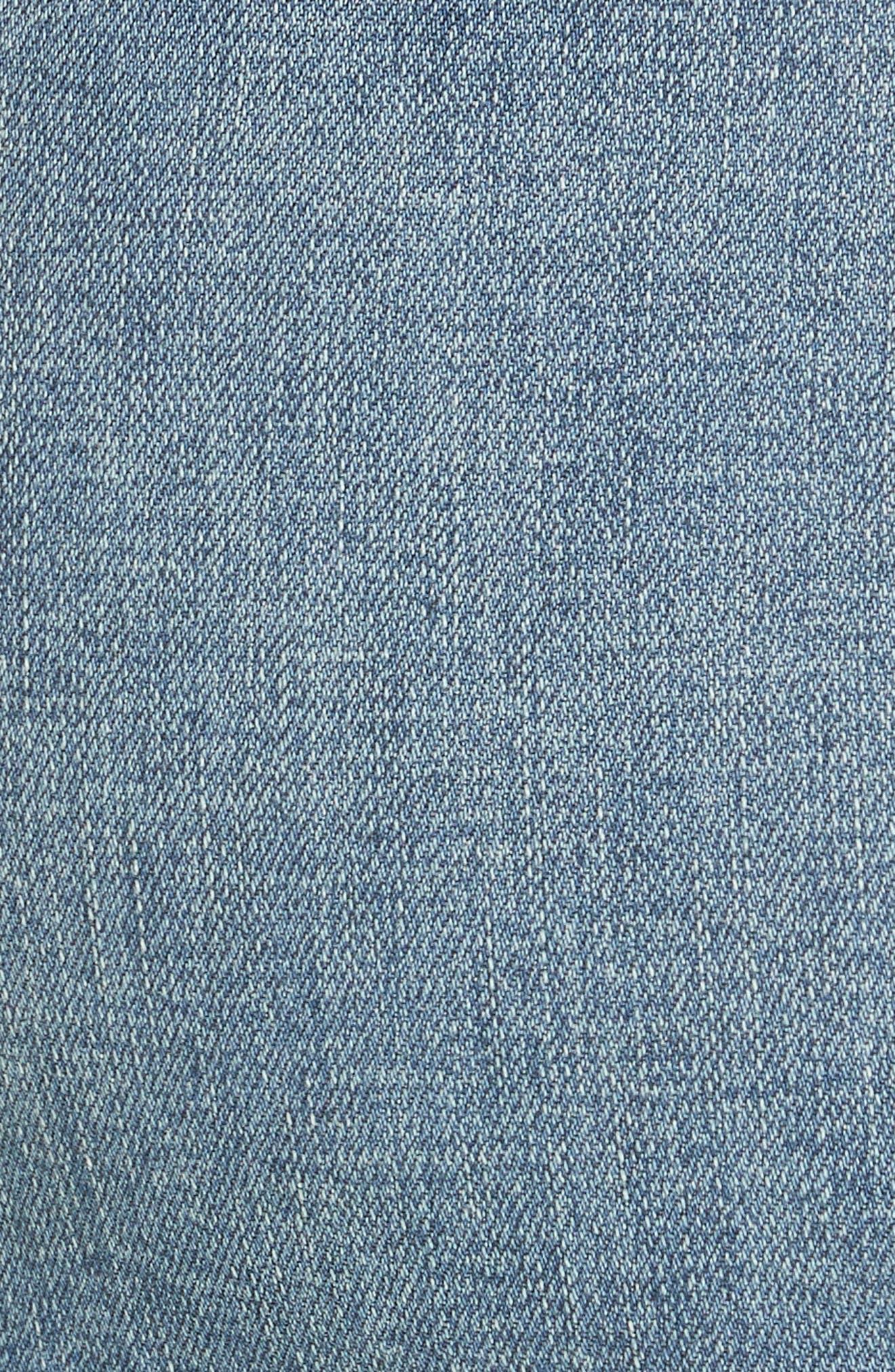 She's All That Denim Miniskirt,                             Alternate thumbnail 6, color,                             DENIM BLUE
