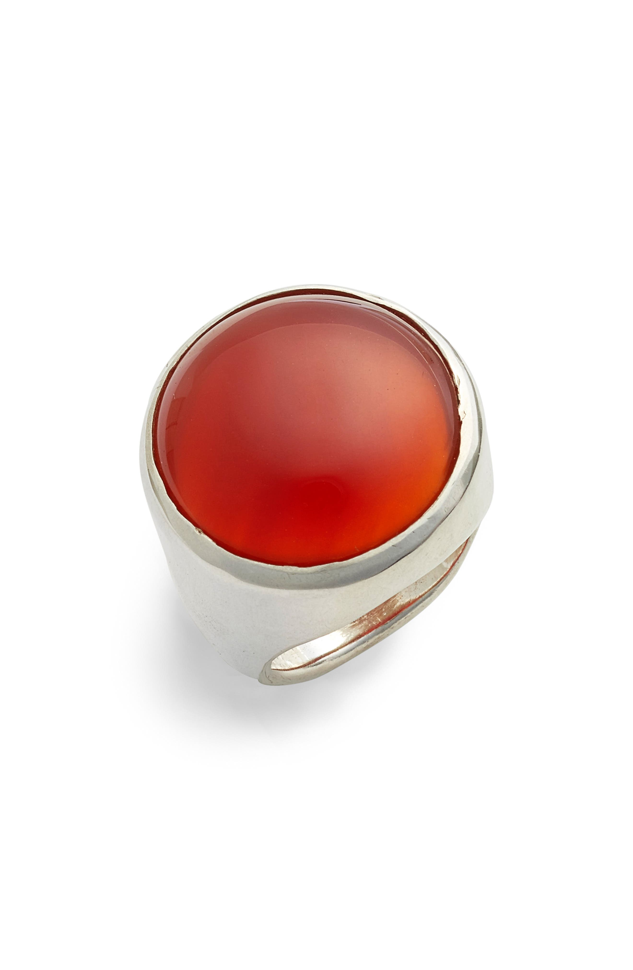 Bam Ring,                         Main,                         color, STERLING SILVER/ CARNELIAN