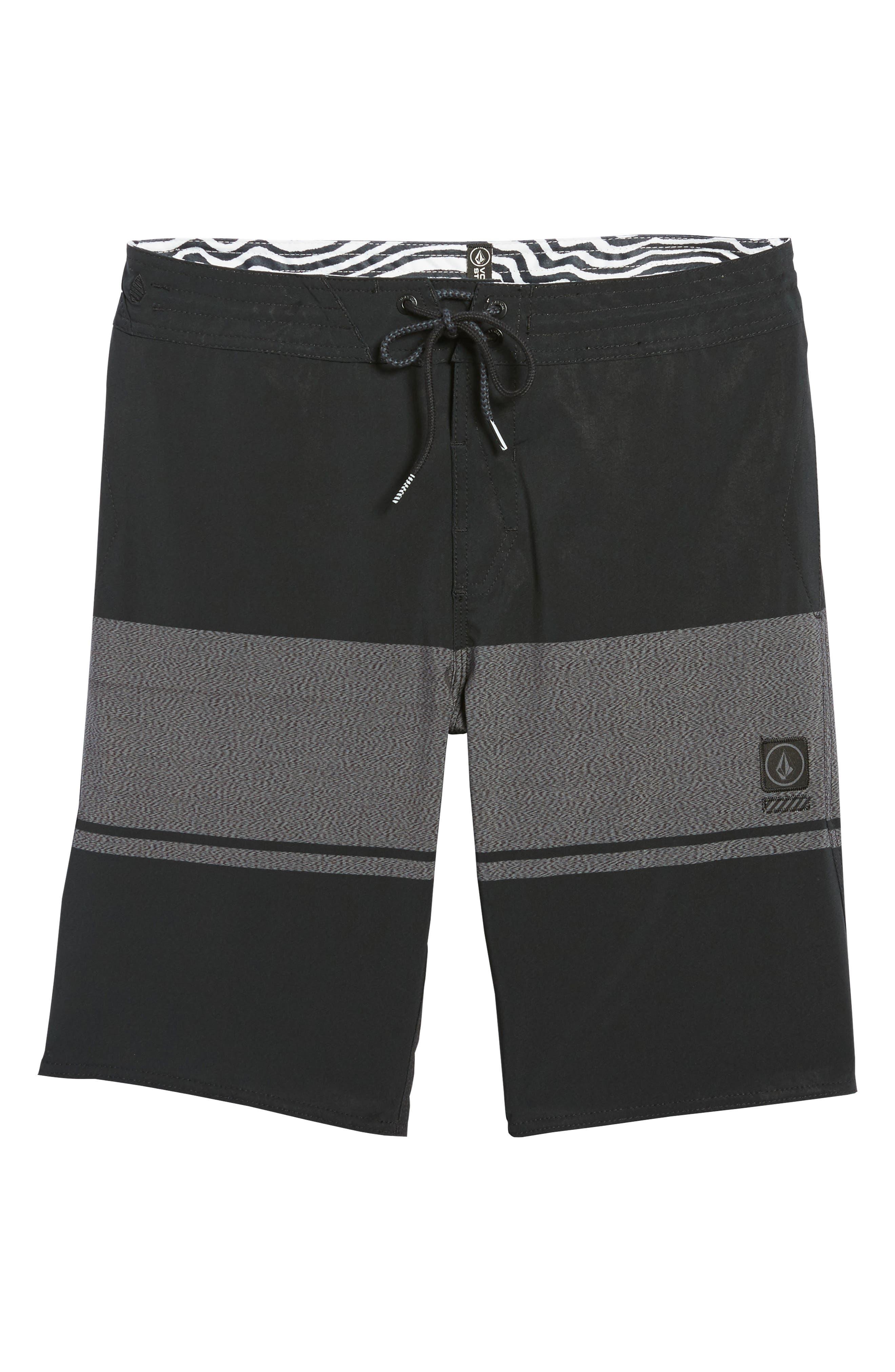 Quarter Static Stoney Board Shorts,                             Alternate thumbnail 6, color,                             BLACK