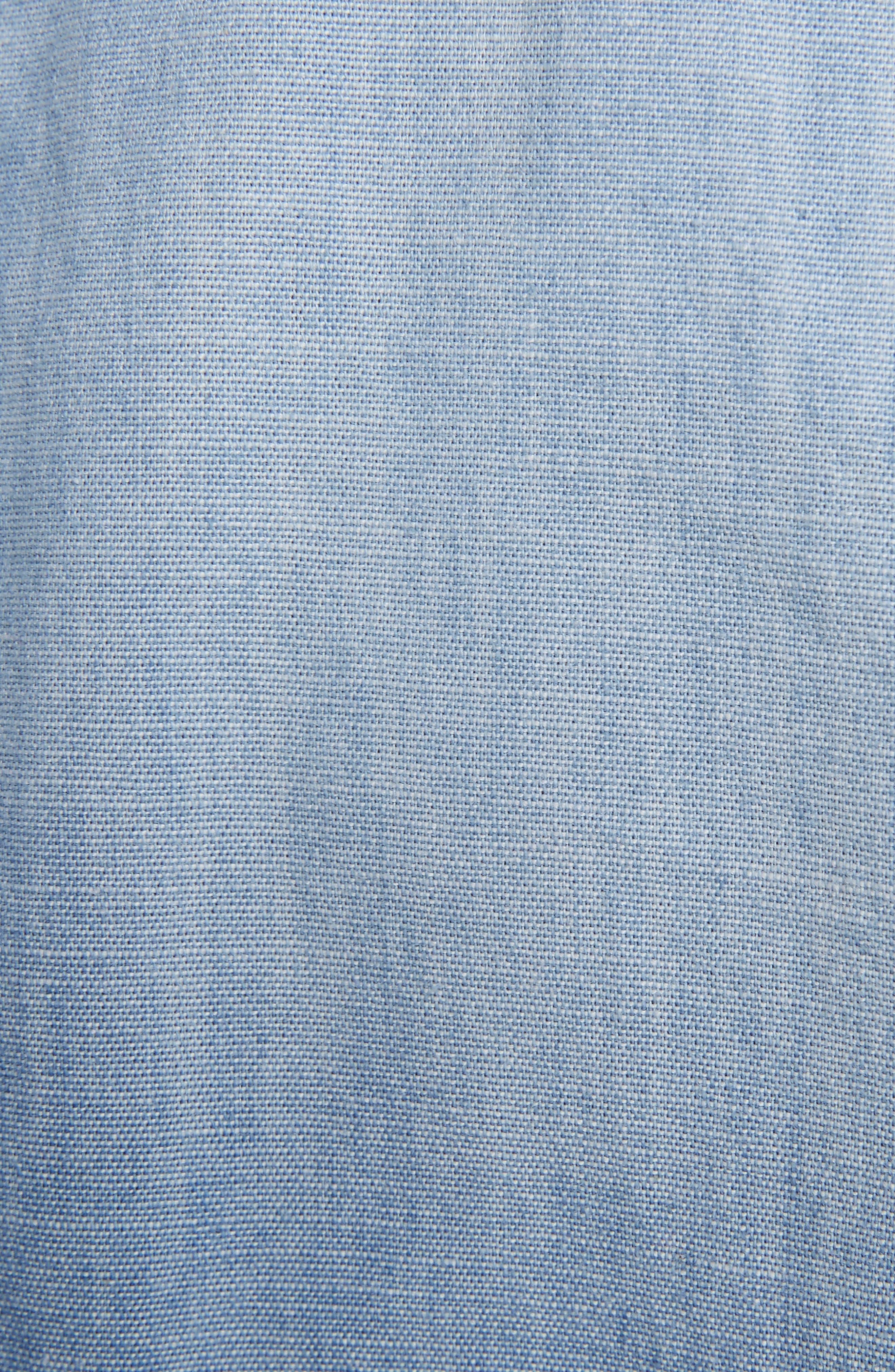 Isabel Marant Étoile Lelicia Denim Ruffle Dress,                             Alternate thumbnail 6, color,                             400