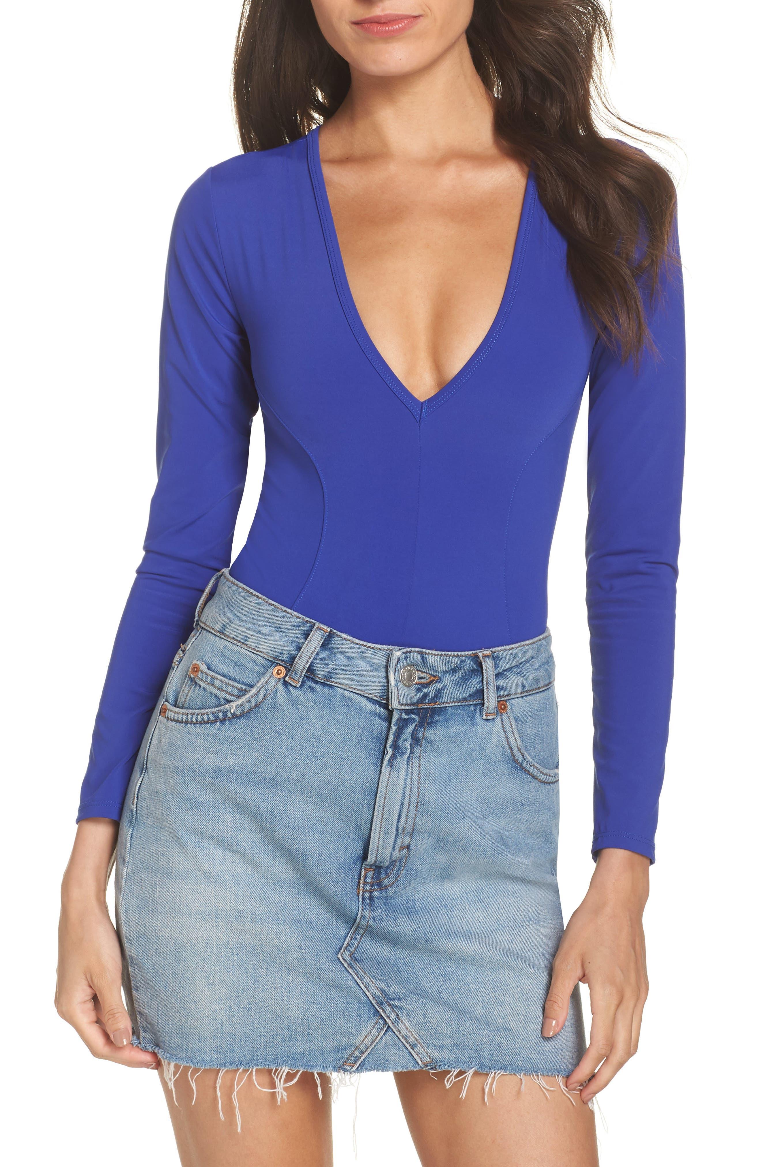 Intimately FP Thong Bodysuit,                             Alternate thumbnail 2, color,                             BLUE