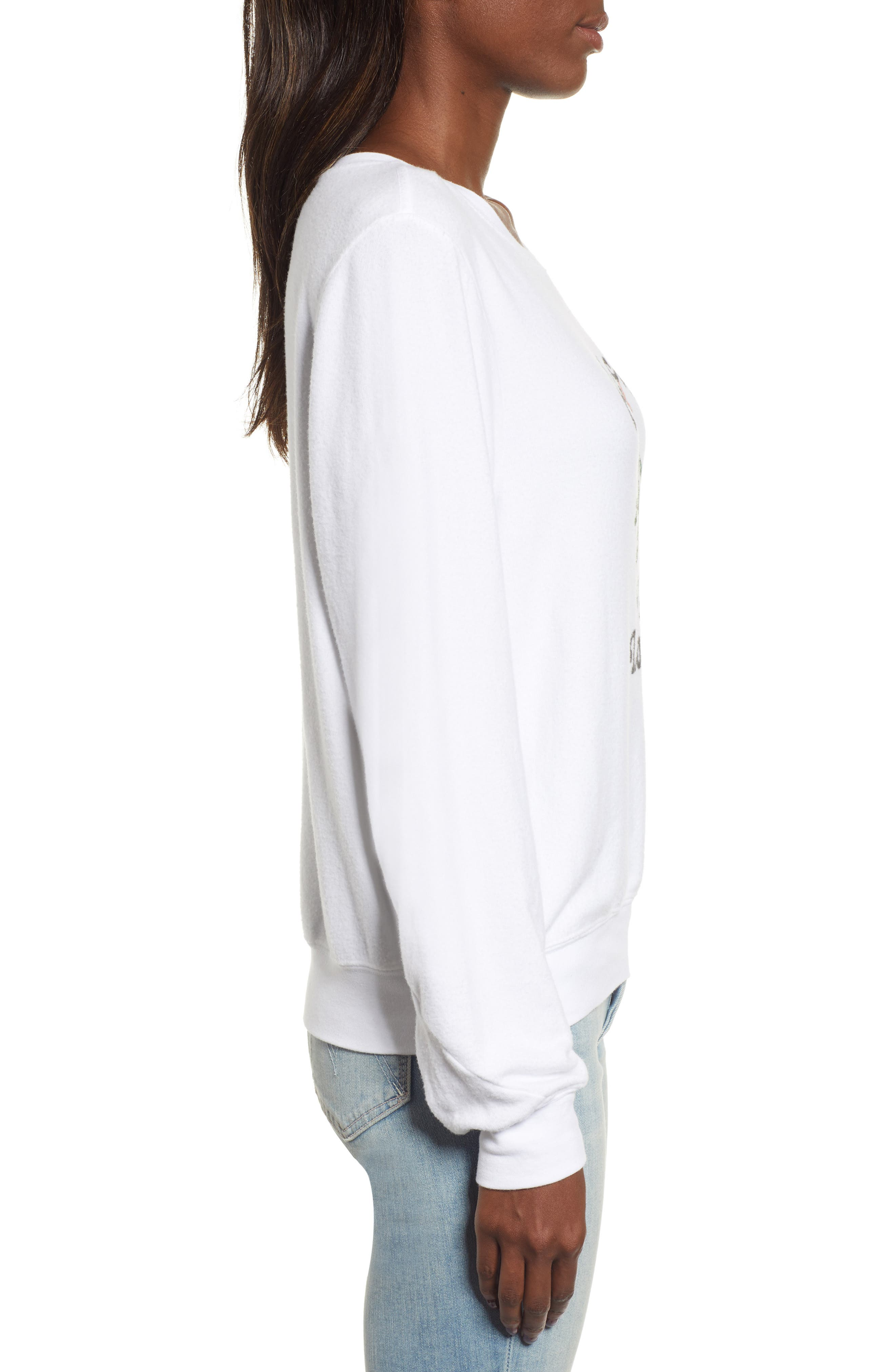 Baggy Beach Jumper - Yule Love It Pullover,                             Alternate thumbnail 3, color,                             CLEAN WHITE