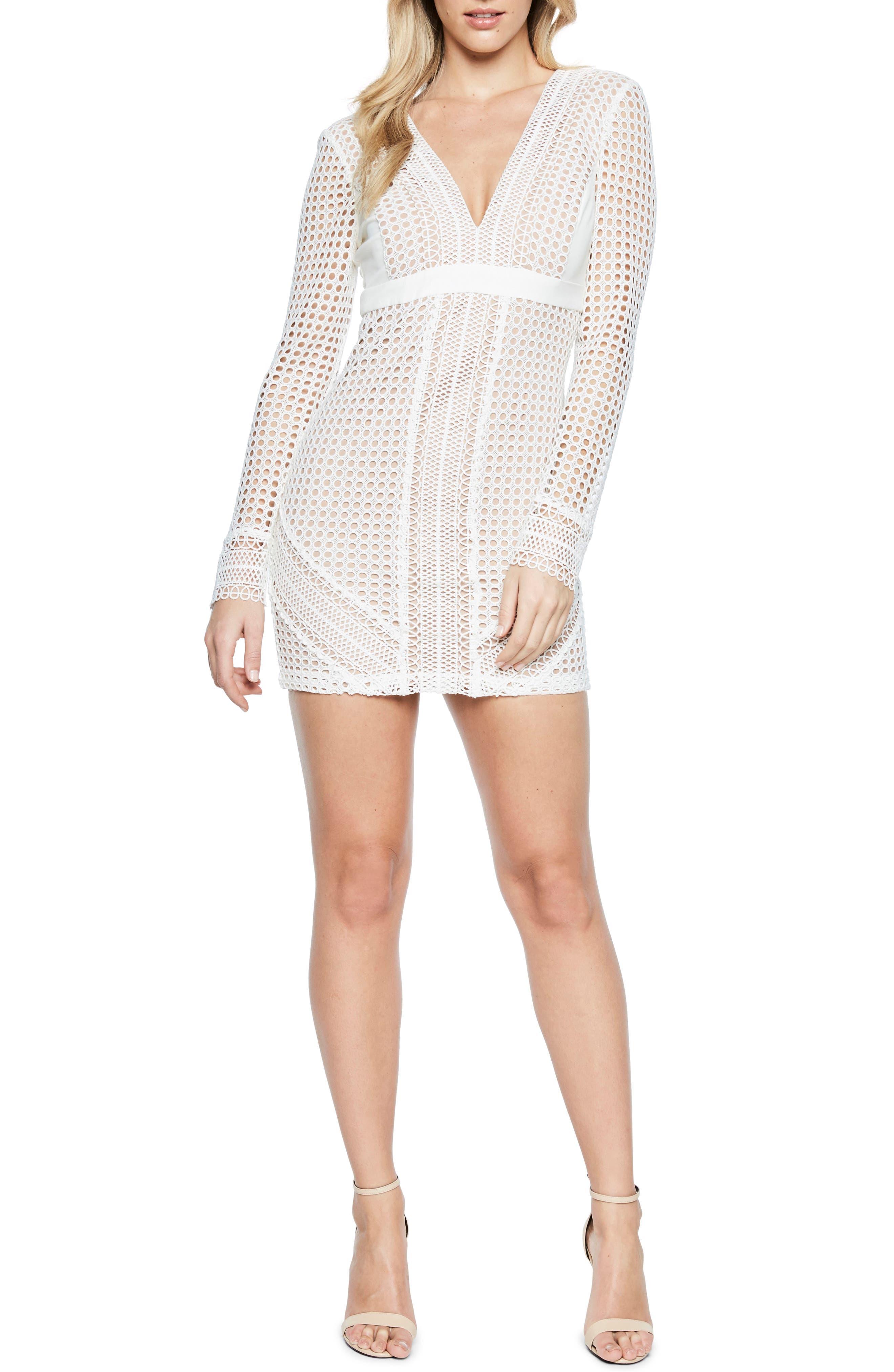 Clio Crochet Body-Con Dress,                             Main thumbnail 1, color,