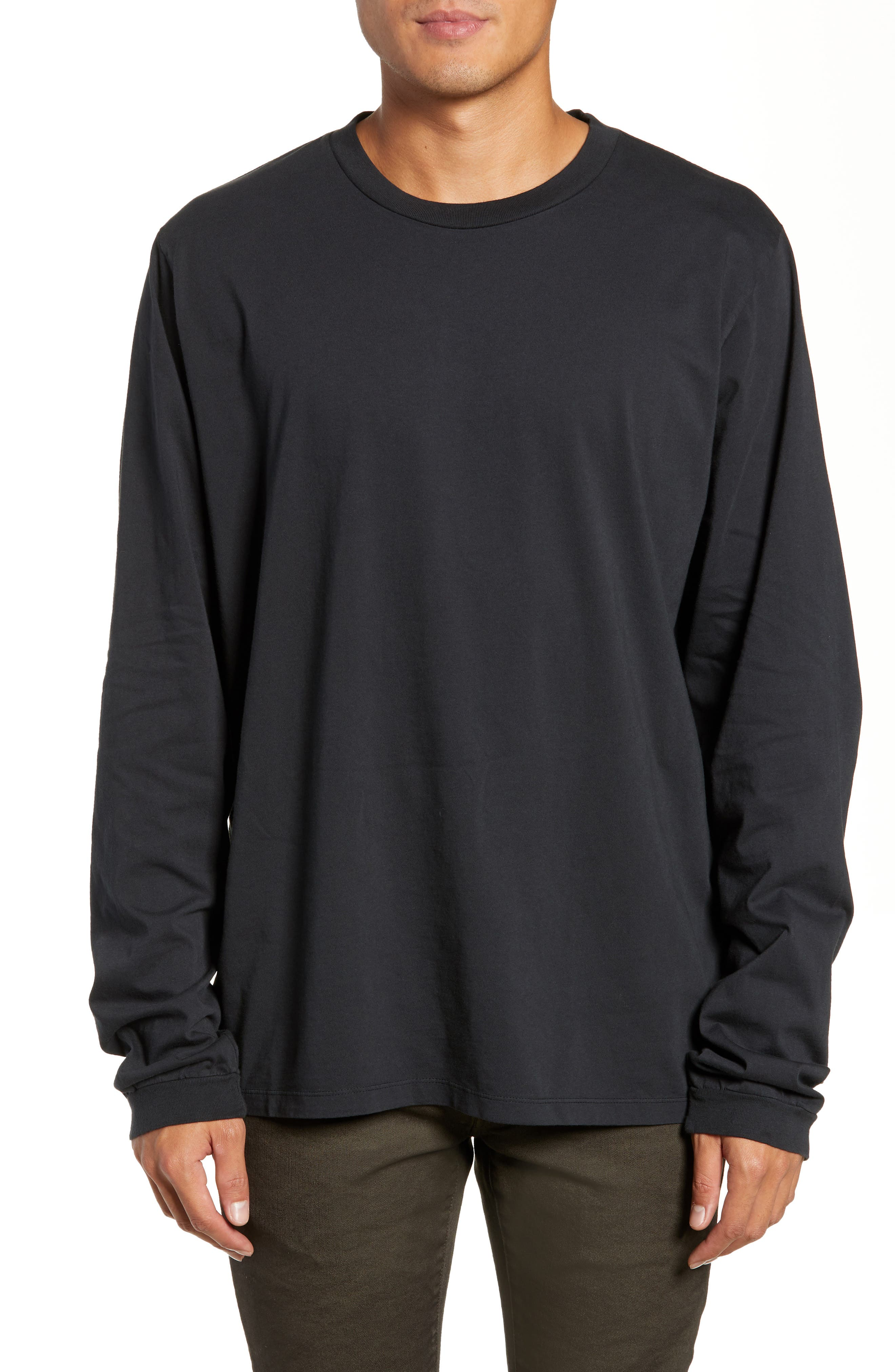 Final Long Sleeve T-Shirt,                             Main thumbnail 1, color,                             FADED BLACK