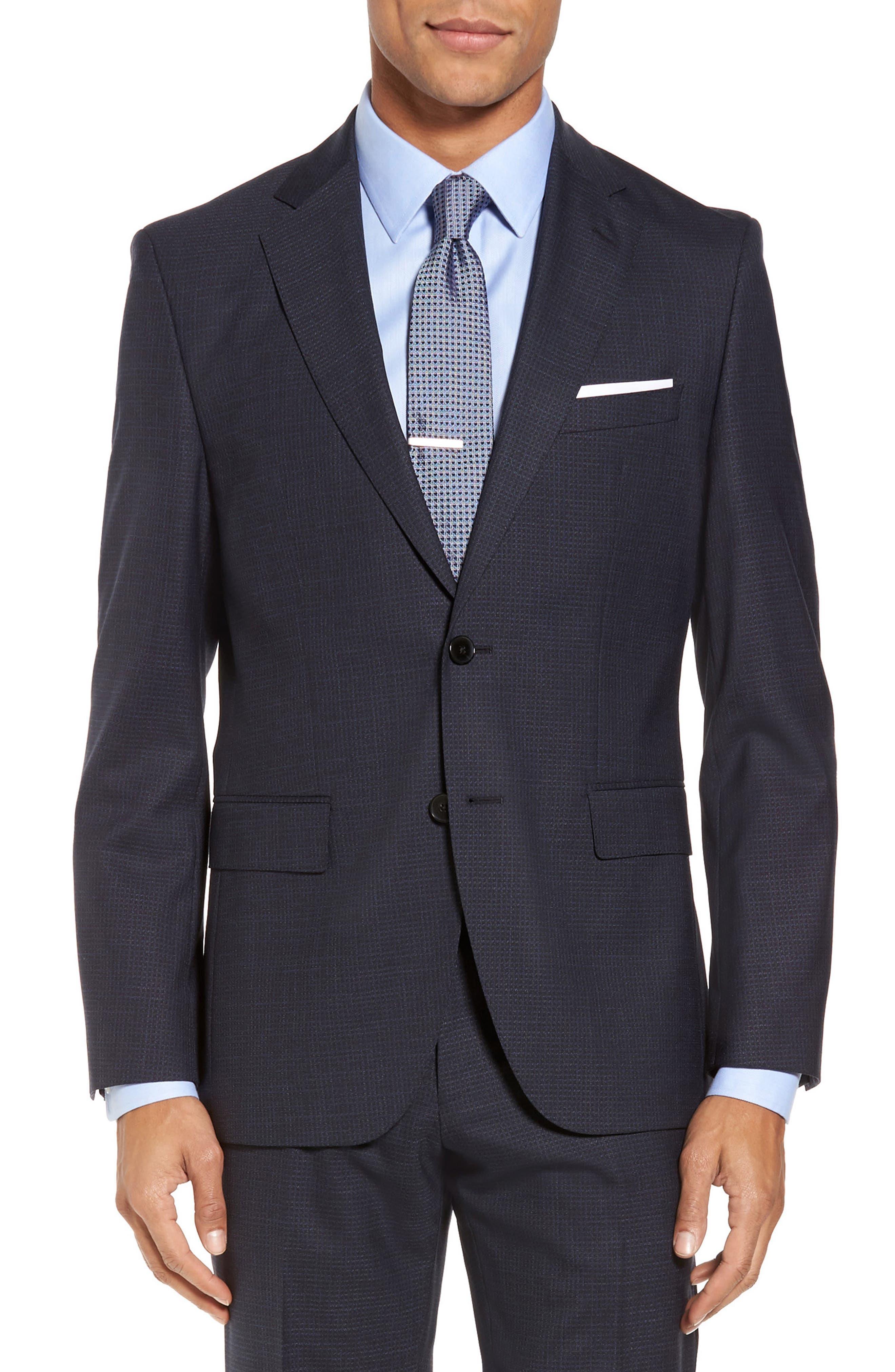 Johnstons/Lenon Classic Fit Check Wool Suit,                             Alternate thumbnail 5, color,                             409