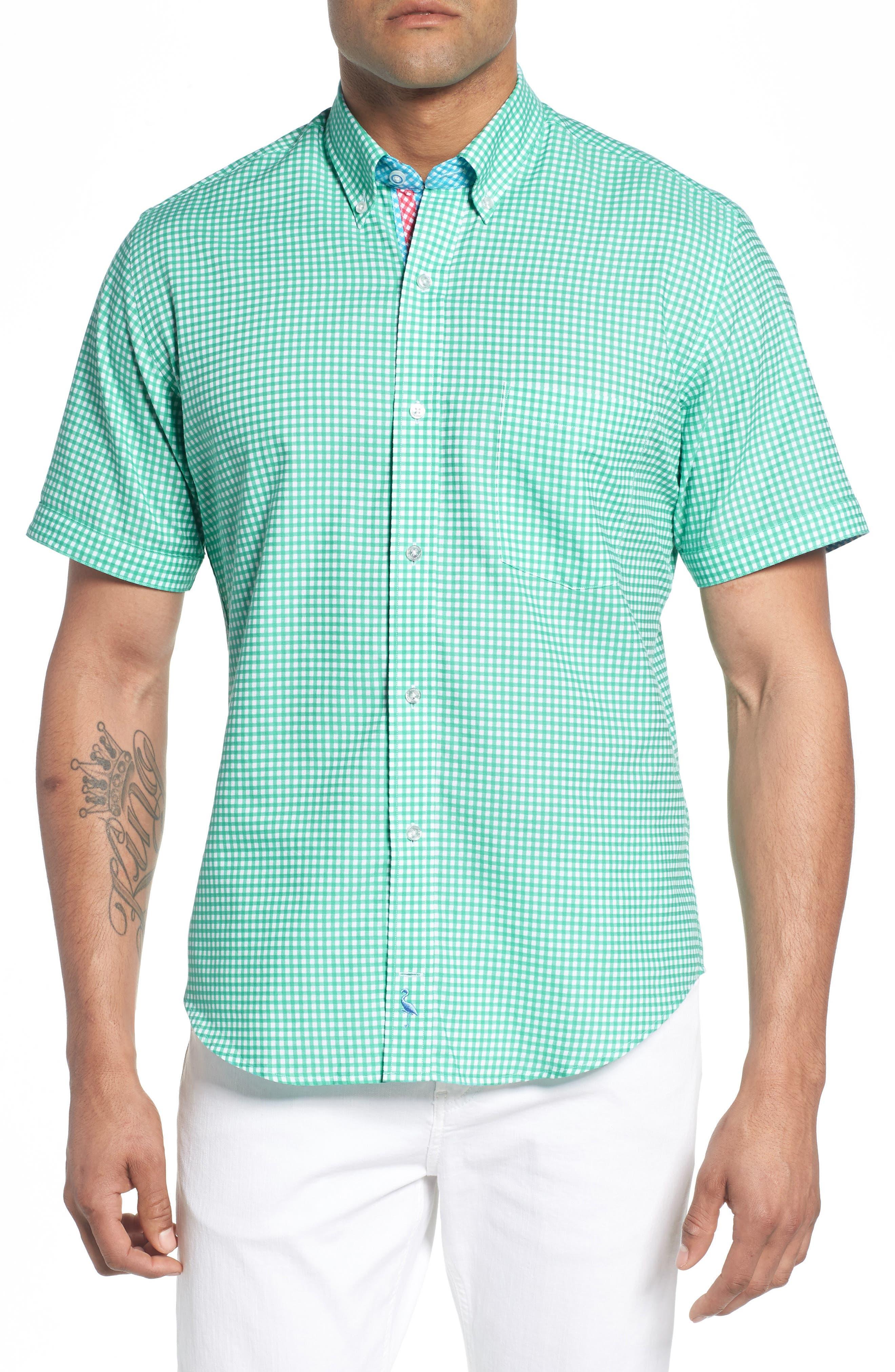 Arlo Regular Fit Check Sport Shirt,                         Main,                         color, 300