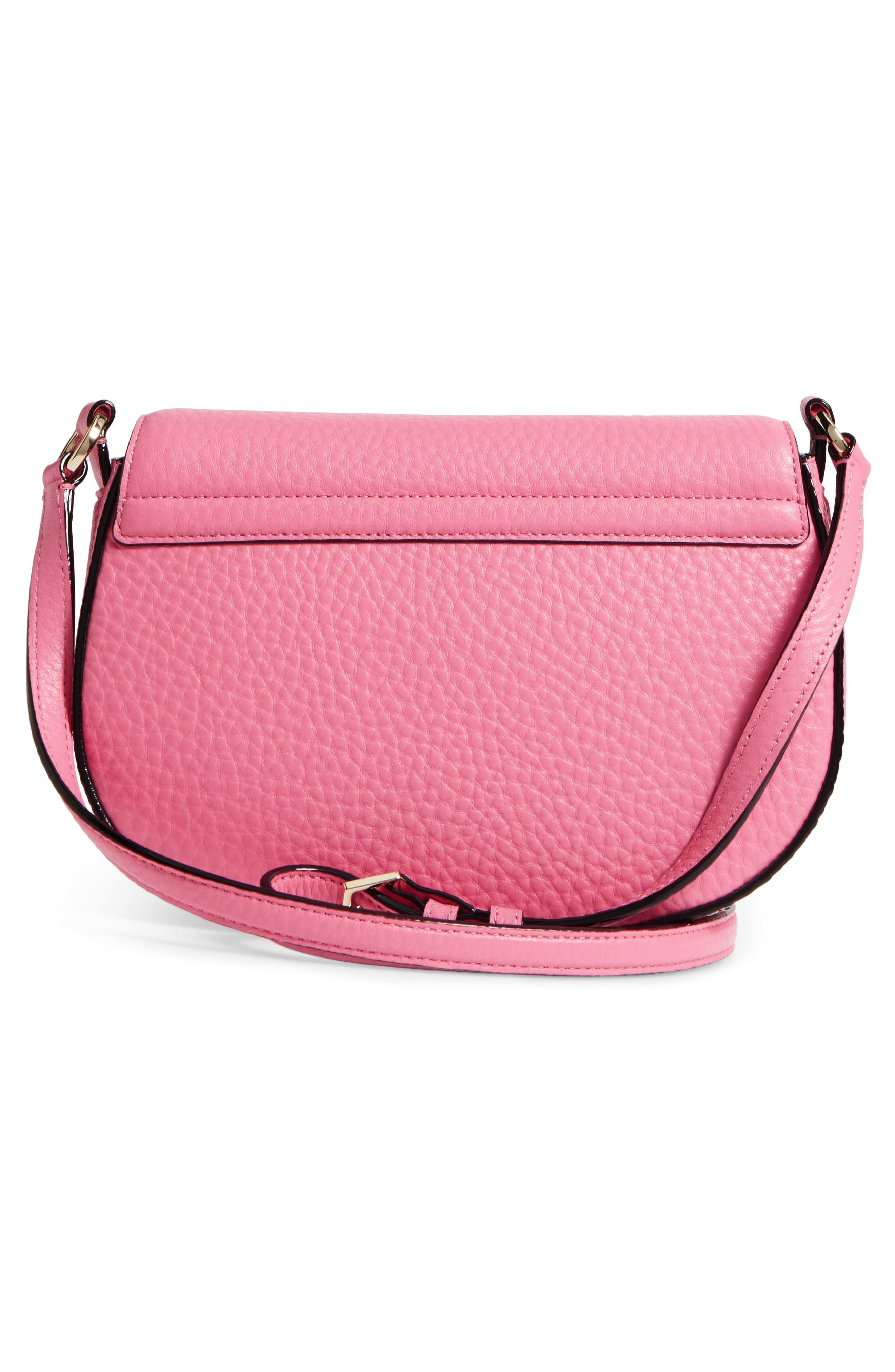 carlyle street - kallie leather saddle bag,                             Alternate thumbnail 9, color,