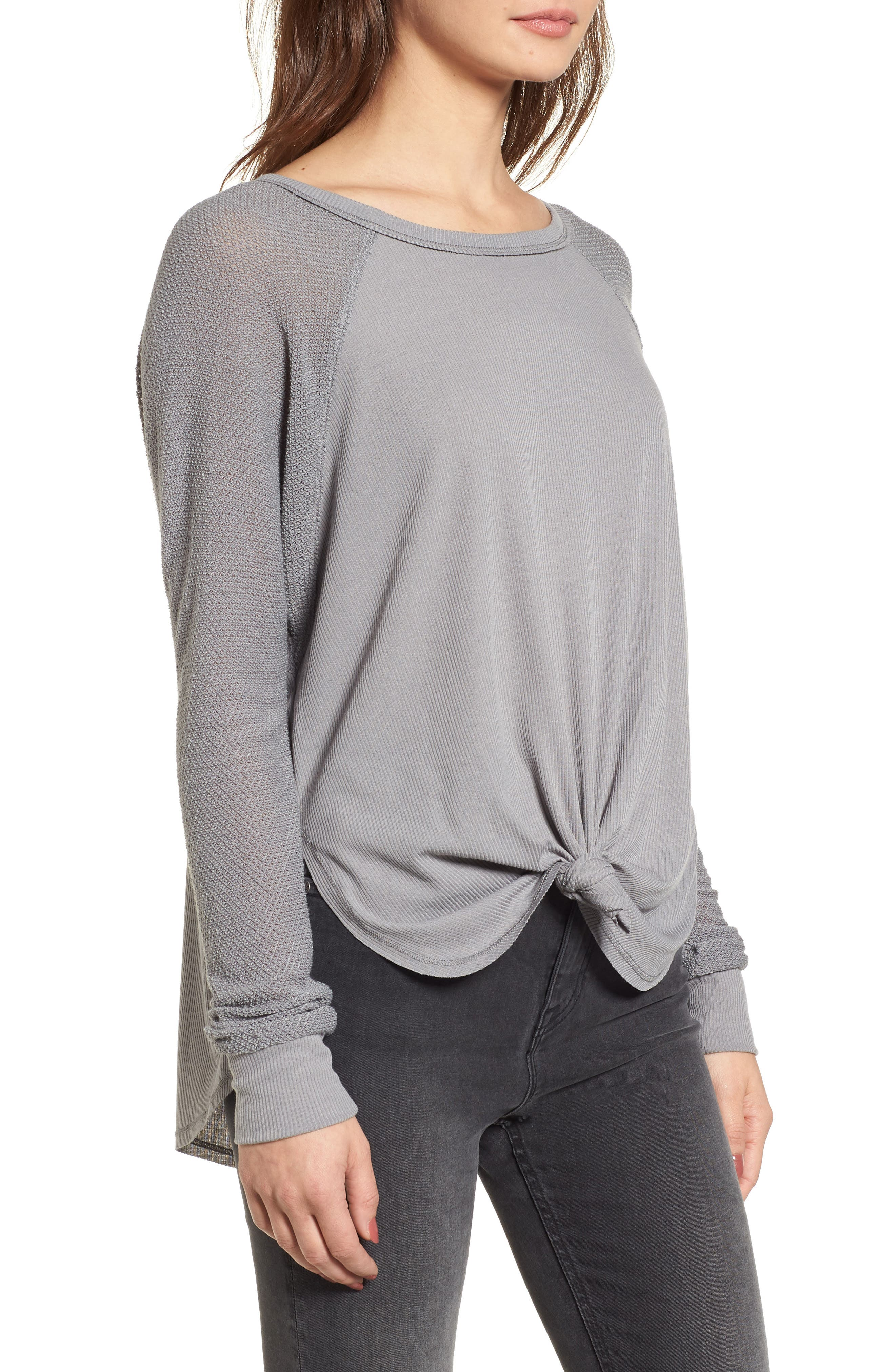 Contrast Sleeve Thermal Top,                             Alternate thumbnail 3, color,                             050