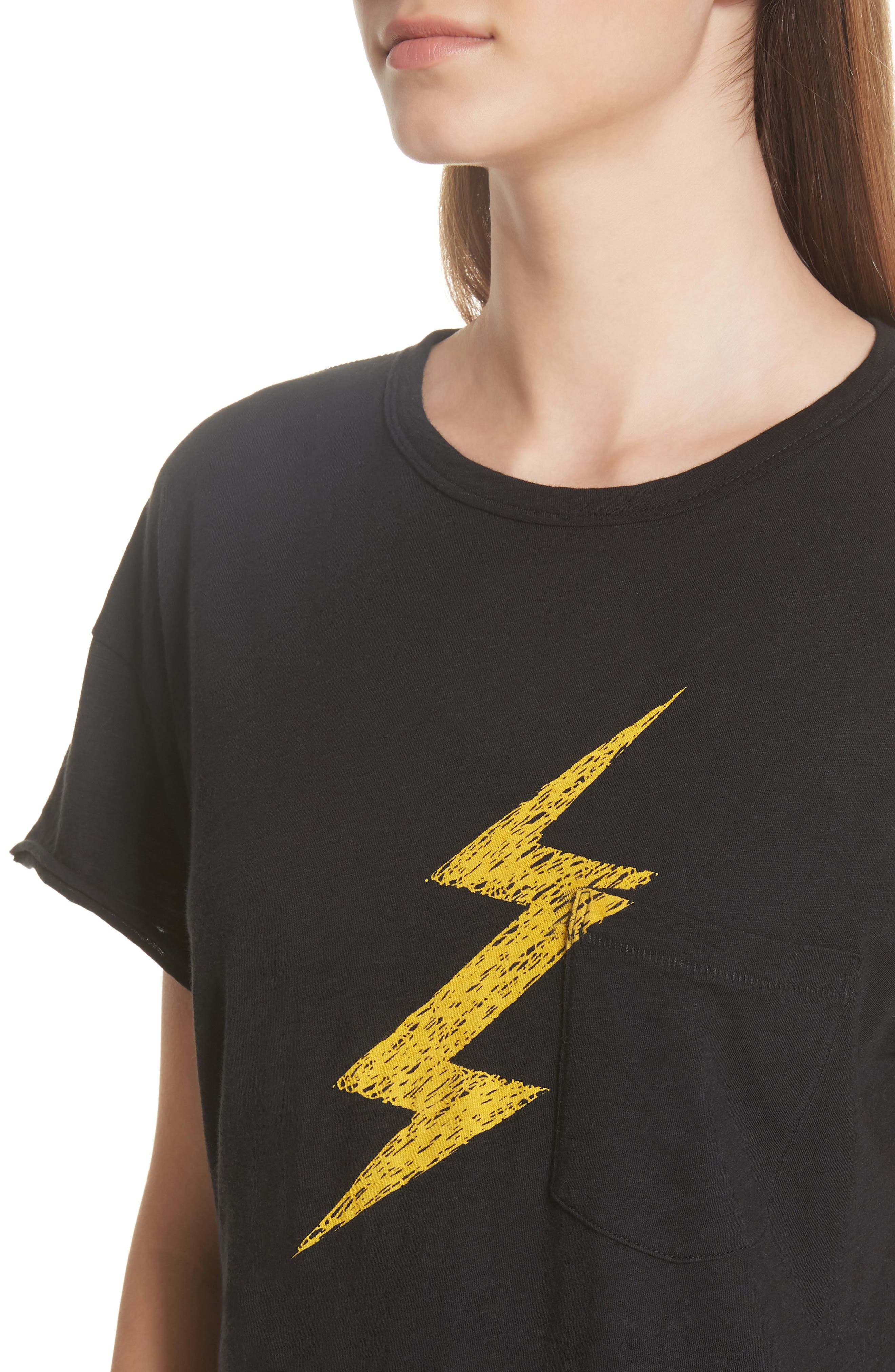 Lightning Vintage Tee,                             Alternate thumbnail 4, color,                             BLACK