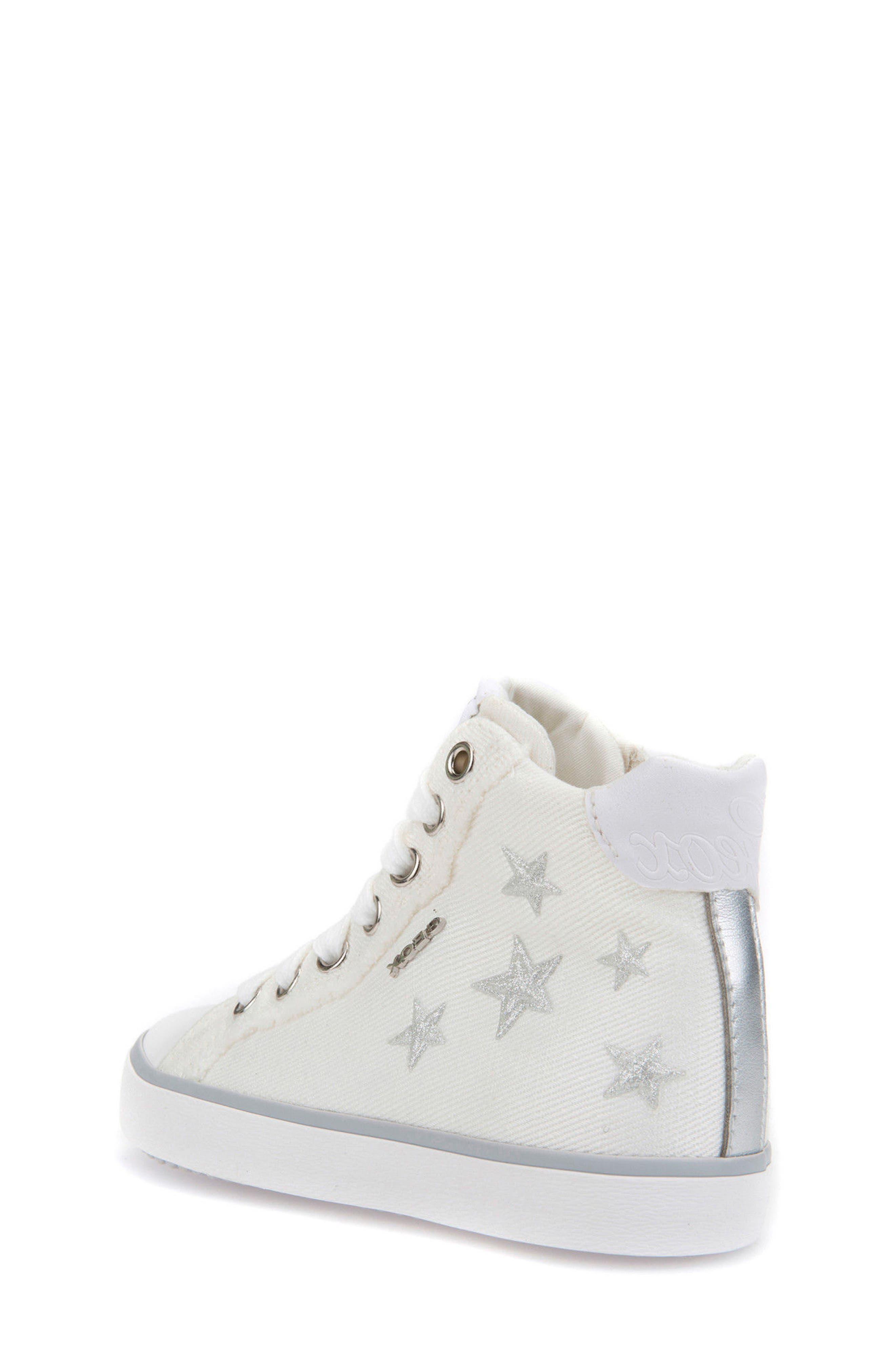 Kilwi High Top Zip Sneaker,                             Alternate thumbnail 2, color,                             WHITE