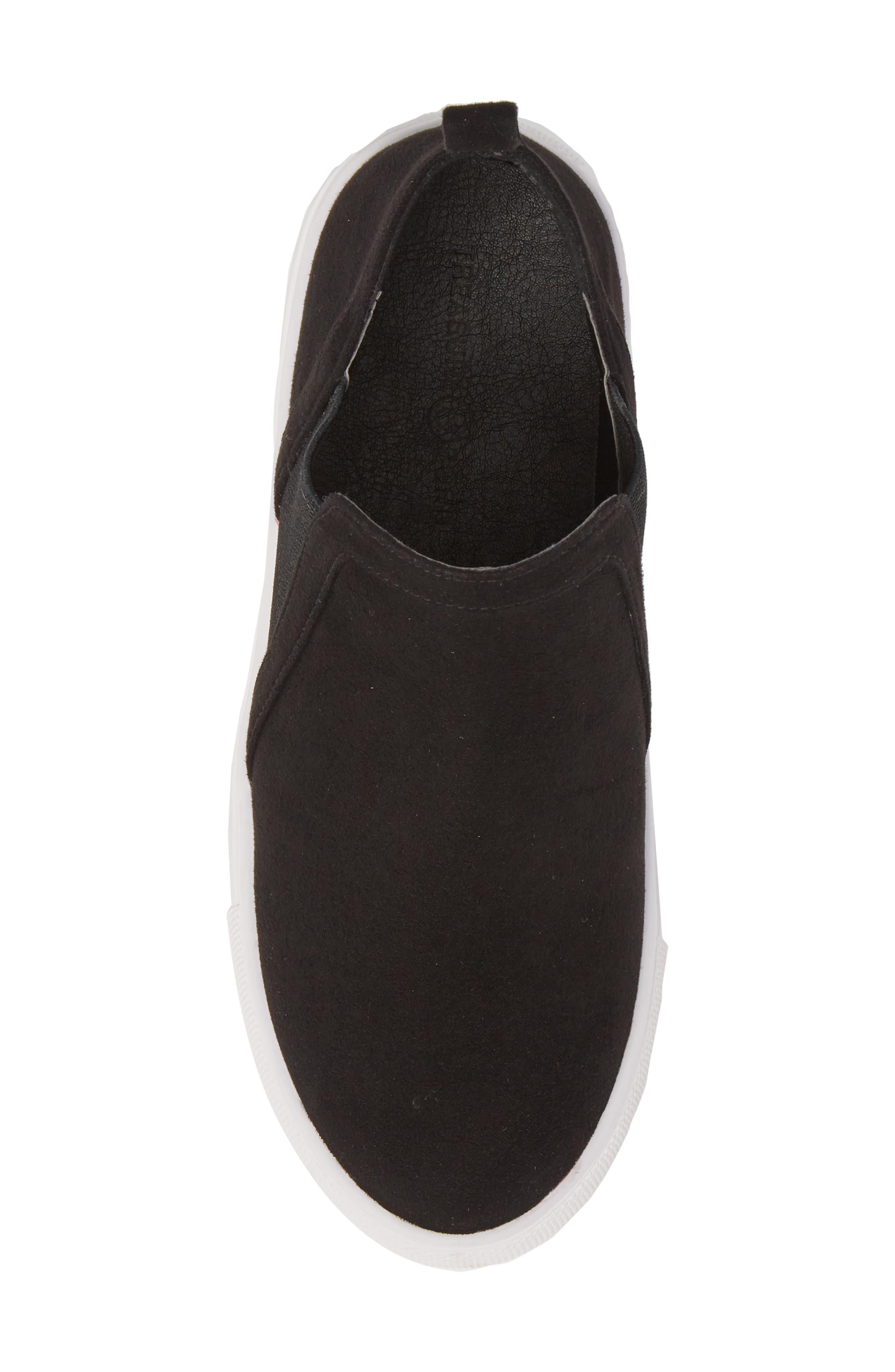 Scarlett Sneaker,                             Alternate thumbnail 5, color,                             BLACK FAUX SUEDE
