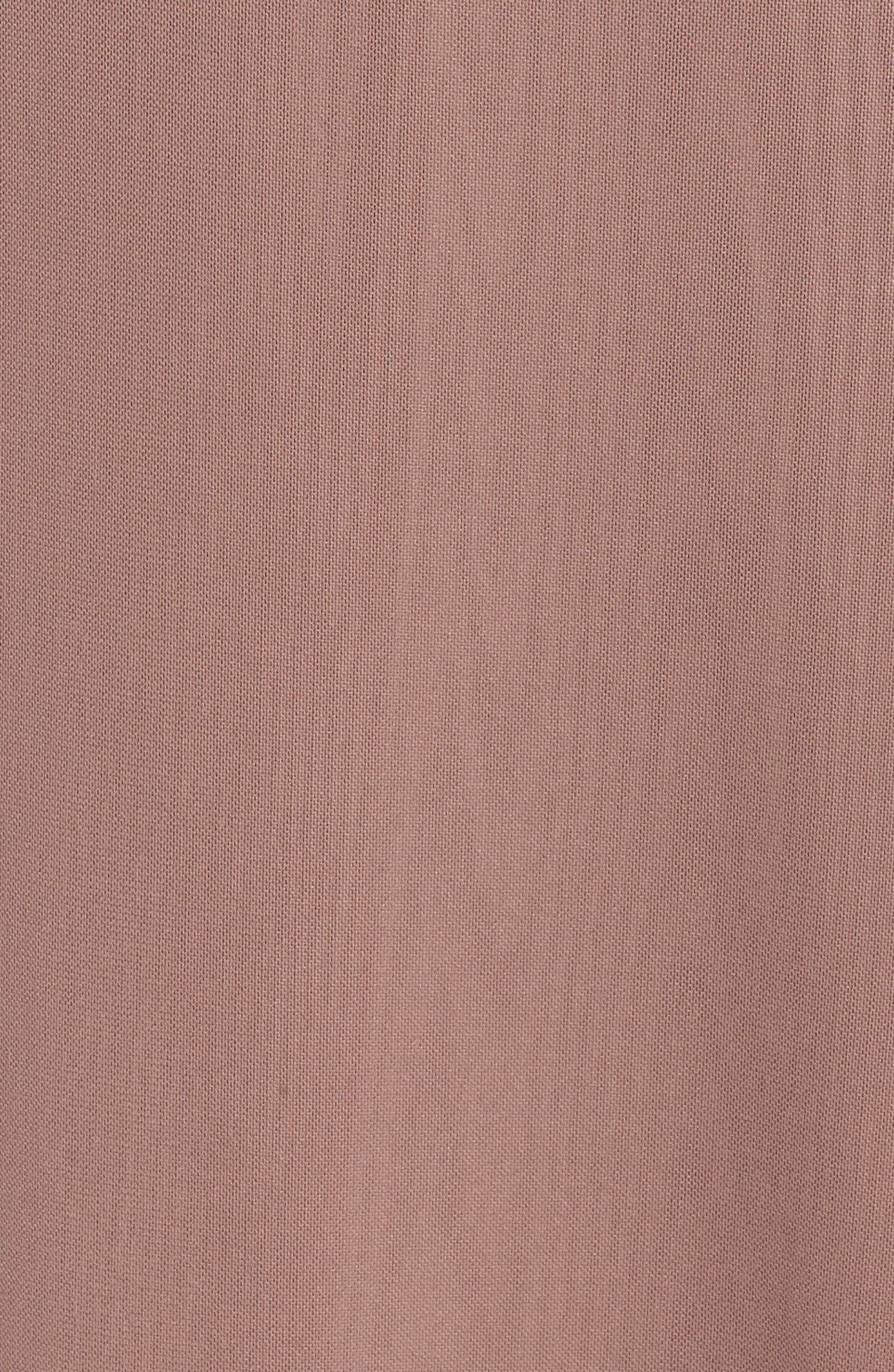 Illusion Neck Beaded A-Line Gown,                             Alternate thumbnail 6, color,                             MAUVE
