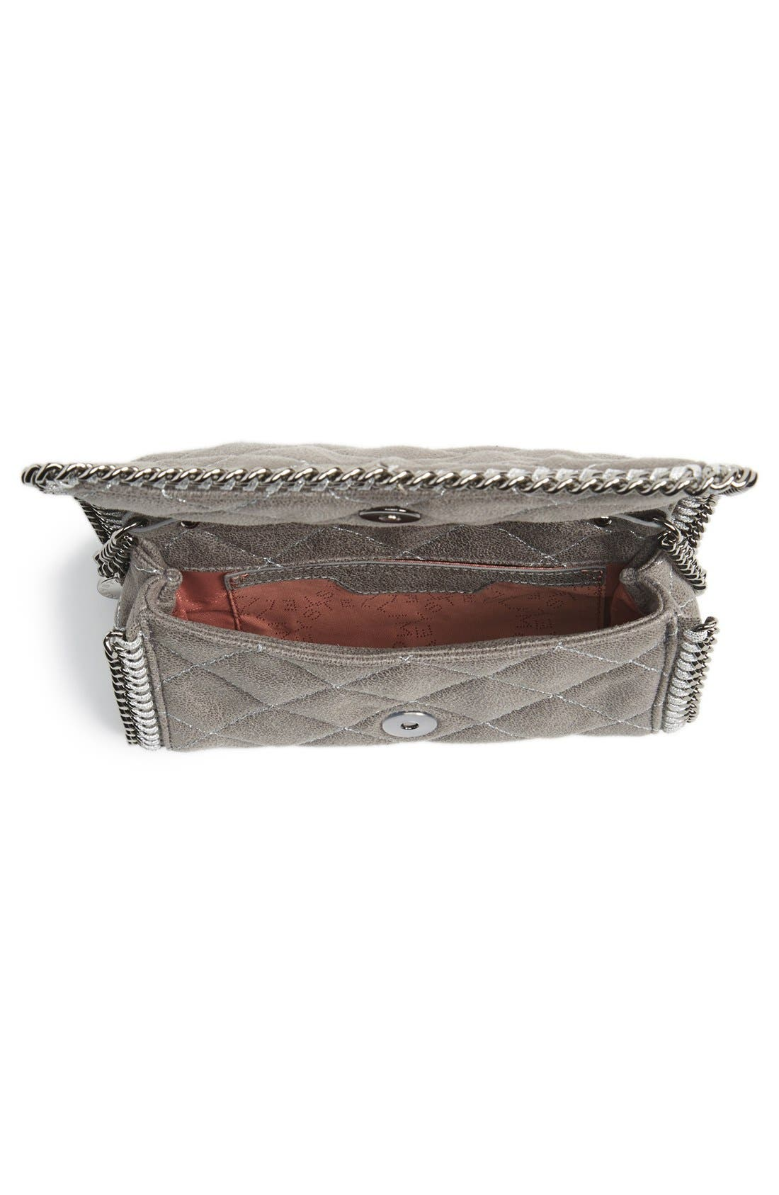 'Falabella' Quilted Faux Leather Crossbody Bag,                             Alternate thumbnail 23, color,