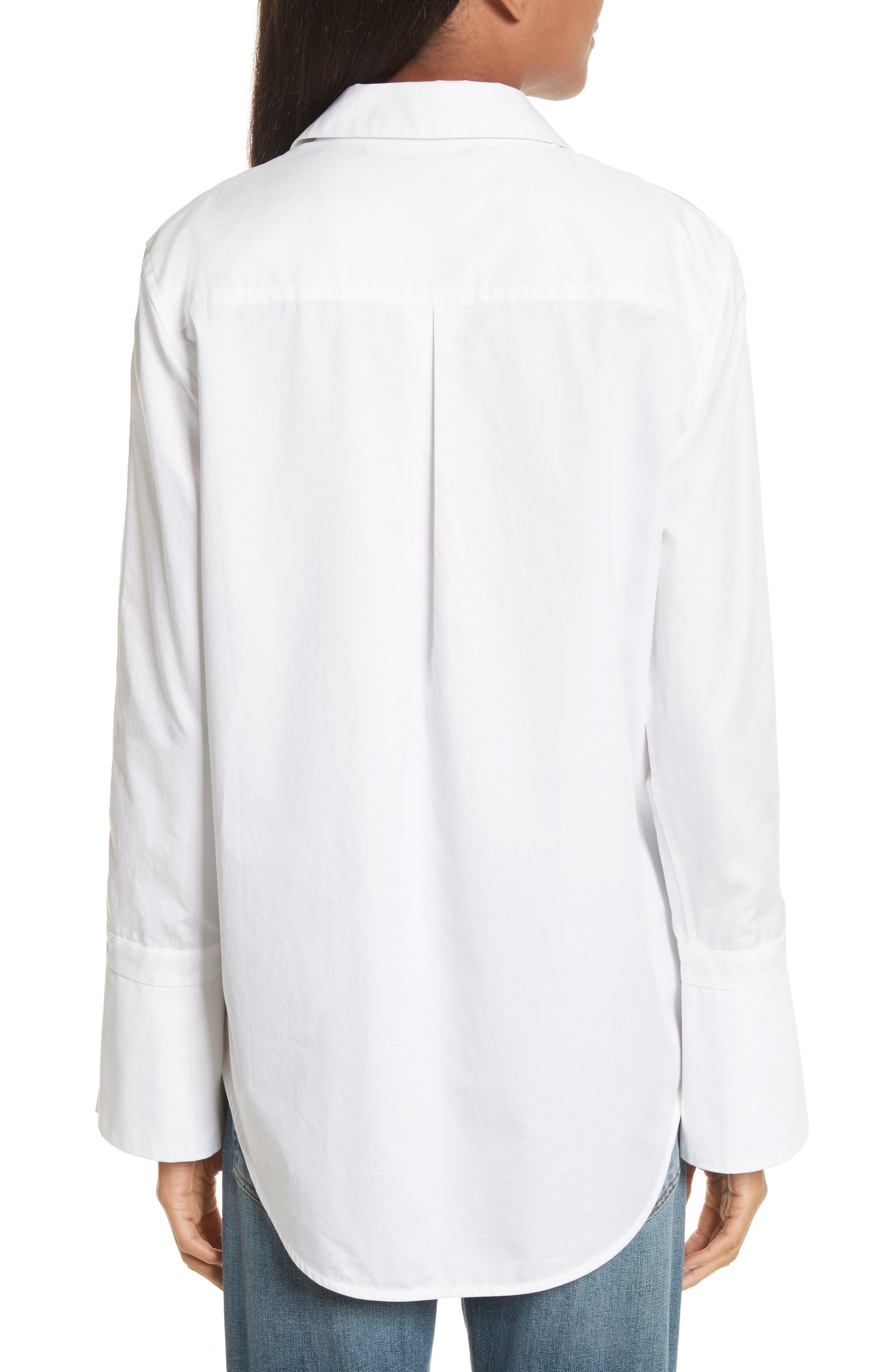 Rossi Button Detail Cotton Shirt,                             Alternate thumbnail 2, color,                             111