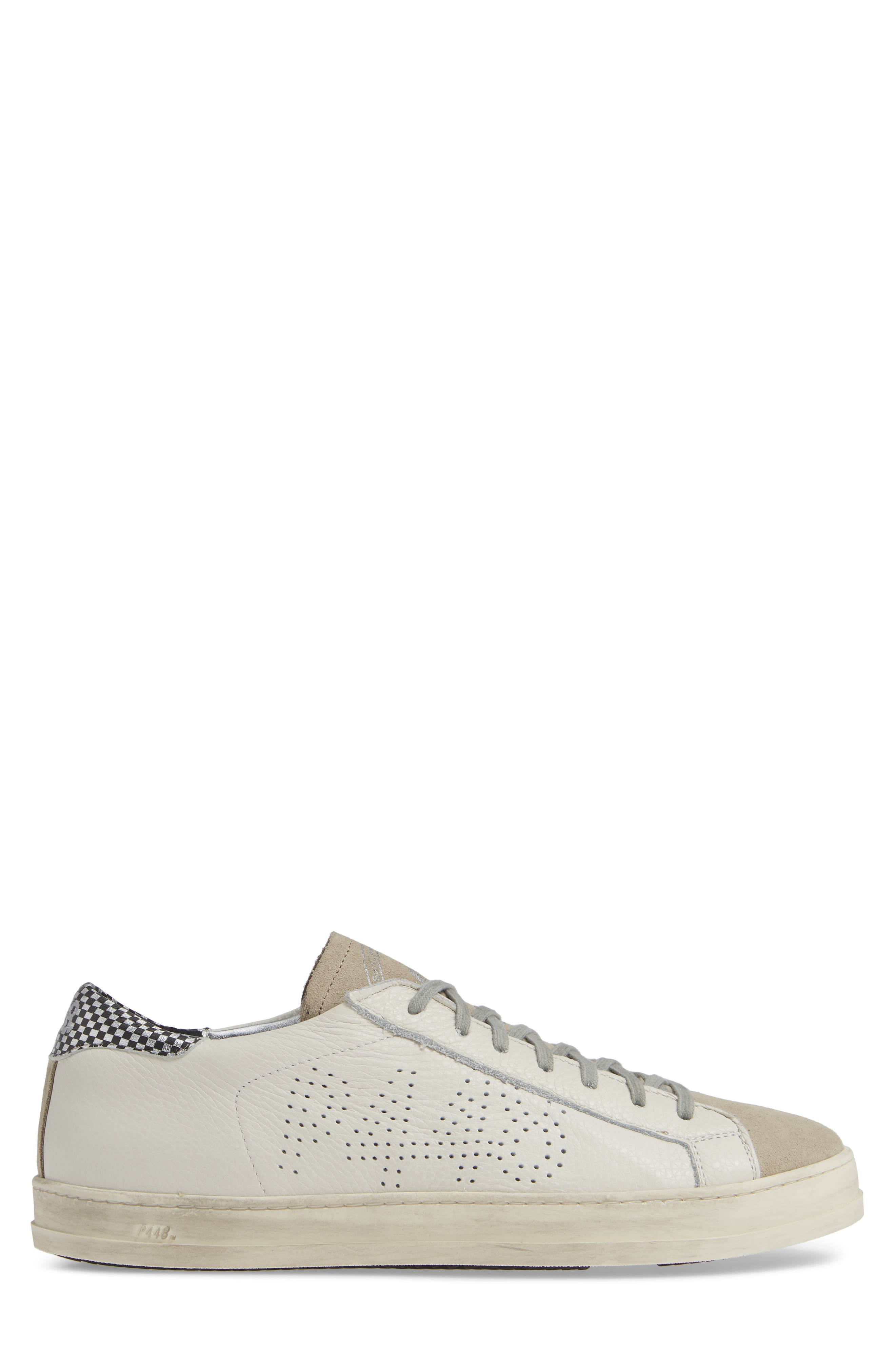 A8John Perforated Sneaker,                             Alternate thumbnail 3, color,                             WHITE/ WHITE