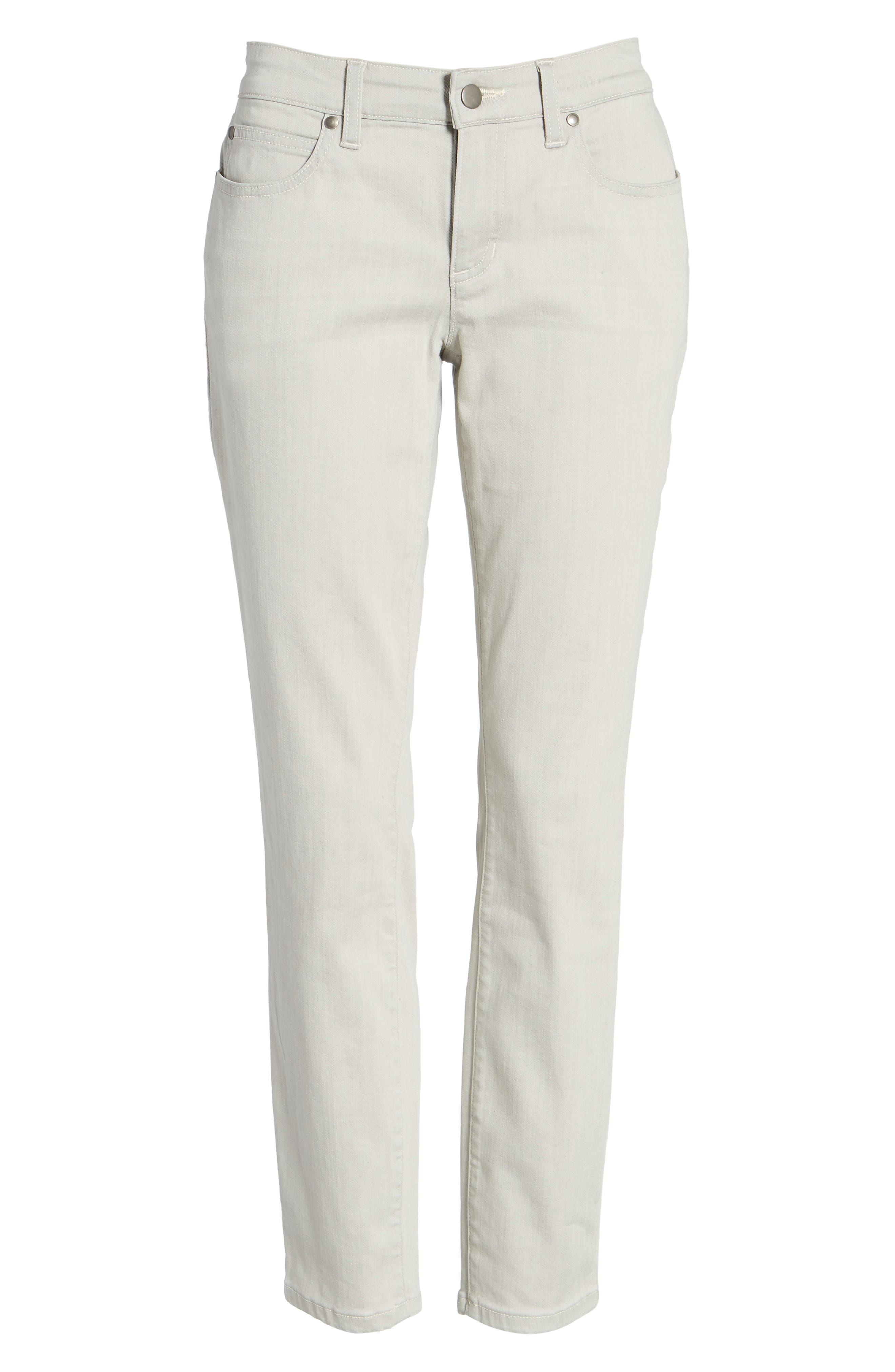 Slim Stretch Ankle Jeans,                             Alternate thumbnail 6, color,                             CEMENT