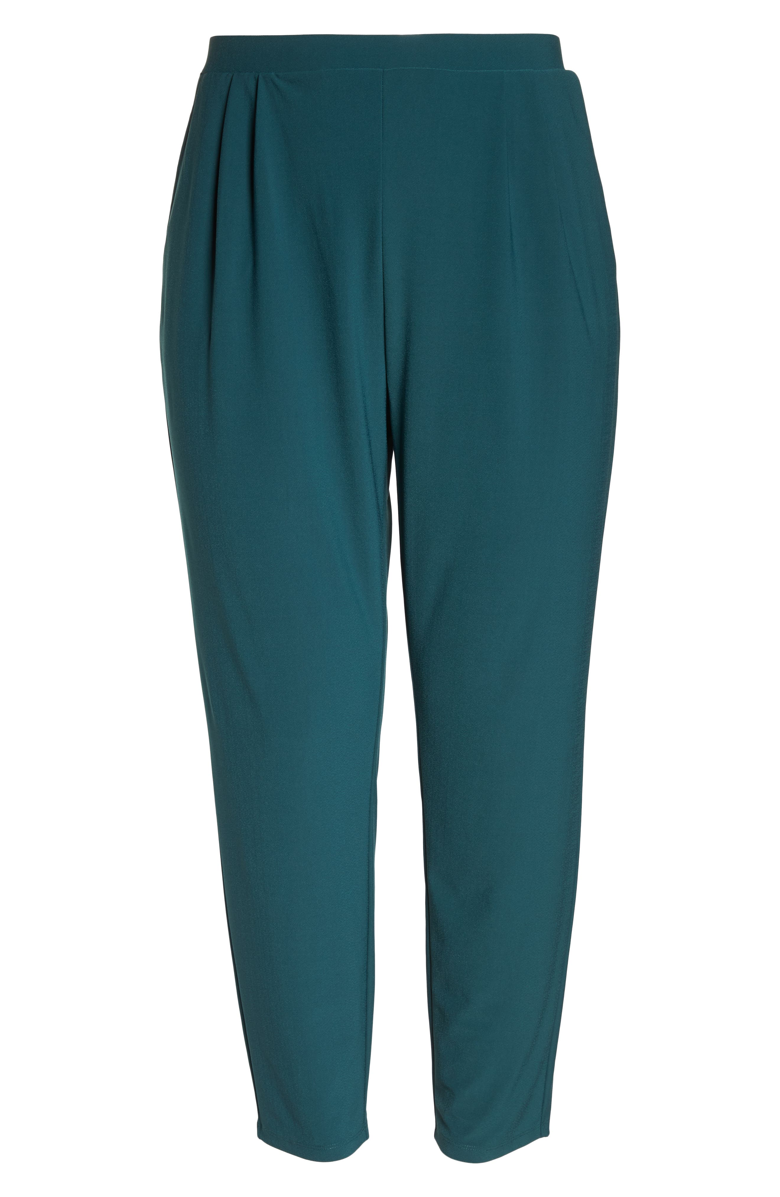 High Rise Pleated Pants,                             Alternate thumbnail 7, color,                             GREEN BUG