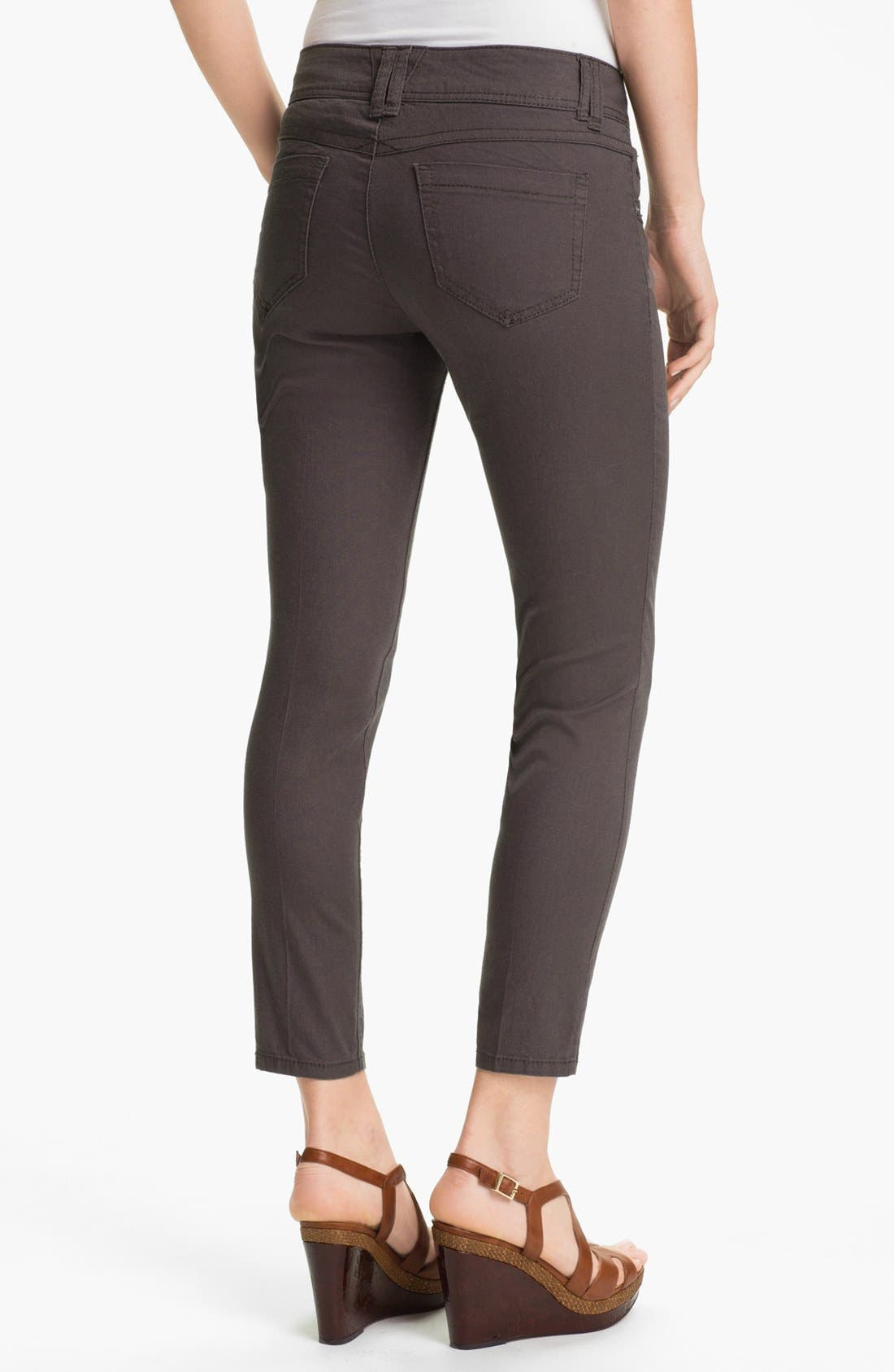 Colored Denim Skinny Jeans,                             Alternate thumbnail 3, color,                             020