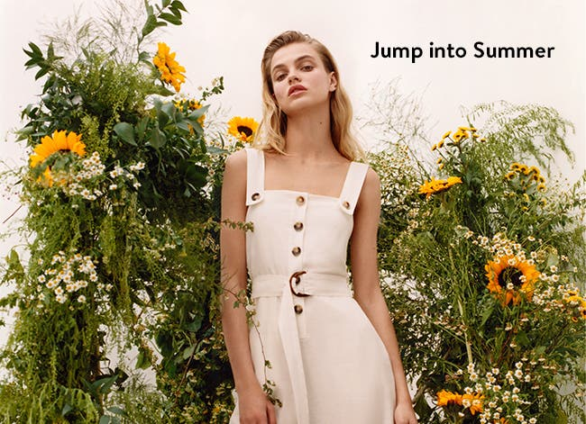 Jump into summer: standout jumpsuits and other breezy warm-weather looks, new from Topshop.