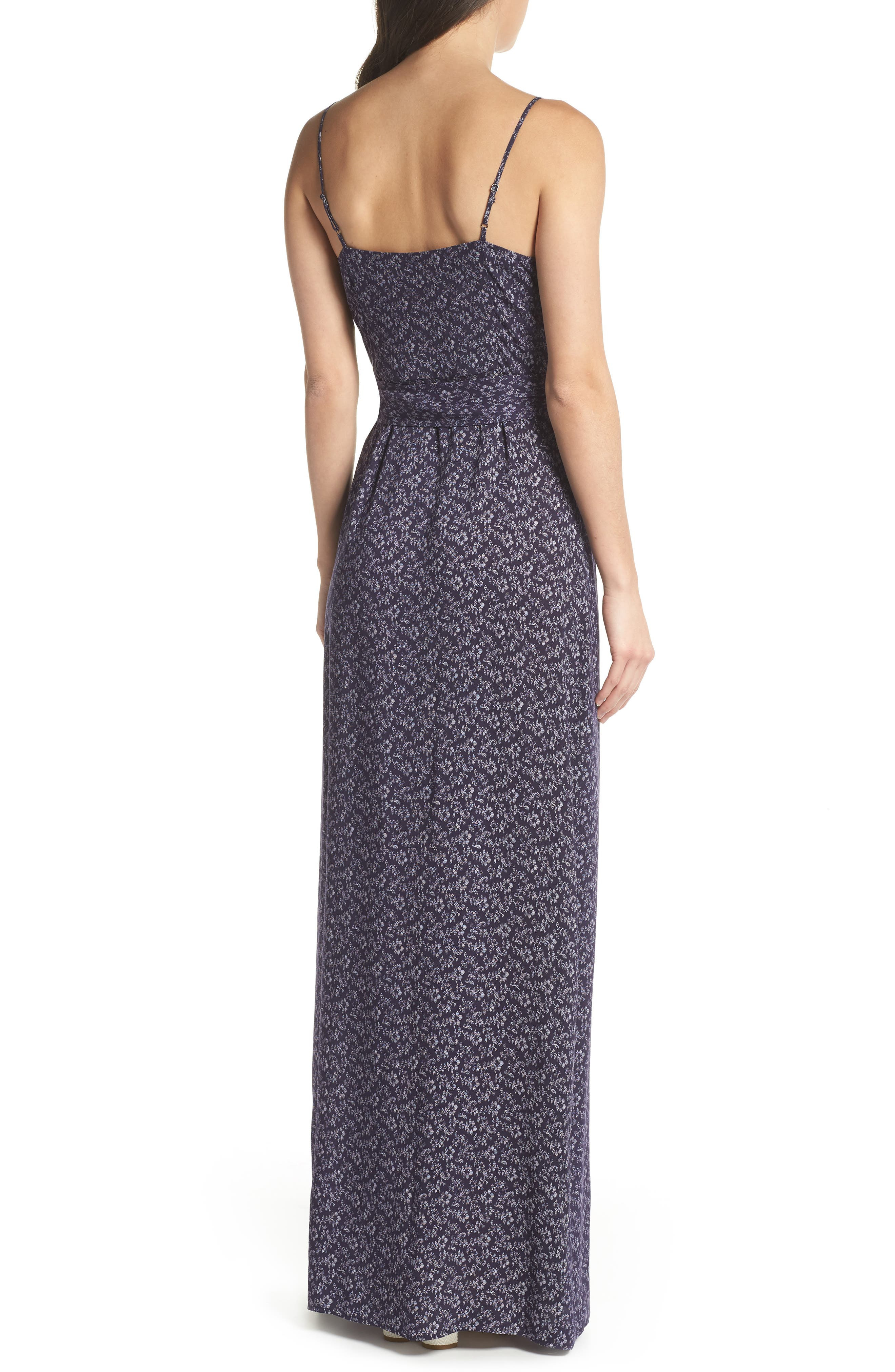 Regina Floral Print Maxi Dress,                             Alternate thumbnail 2, color,                             400