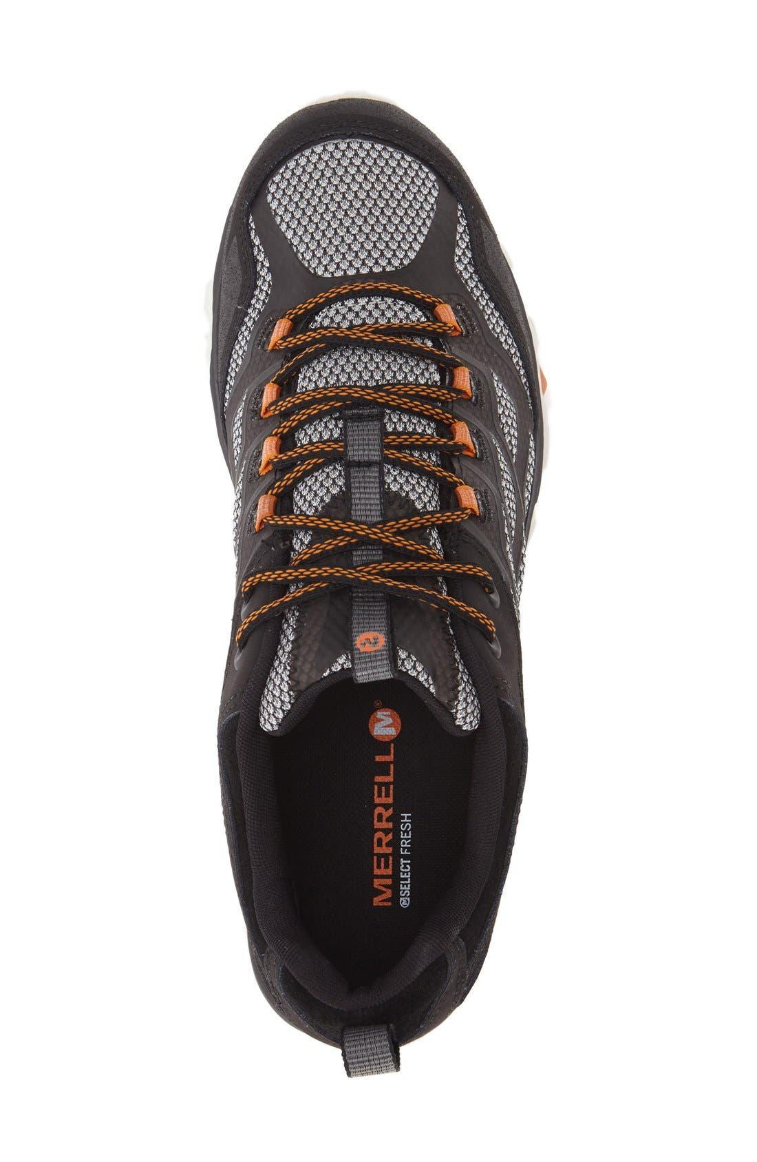 Moab FST Waterproof Hiking Shoe,                             Alternate thumbnail 3, color,                             001