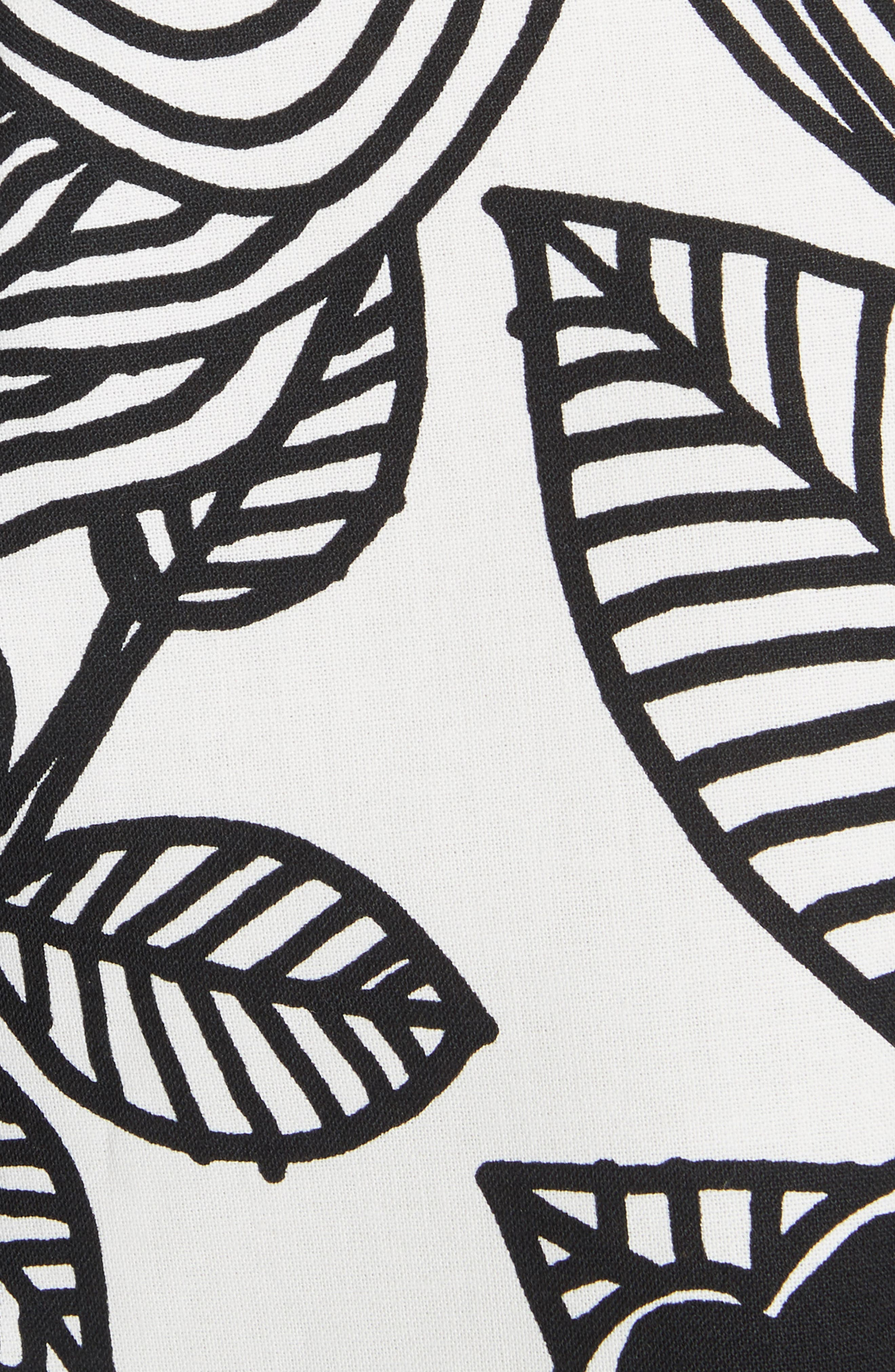 x Marimekko Vegetable Print Cotton Skirt,                             Alternate thumbnail 5, color,                             100