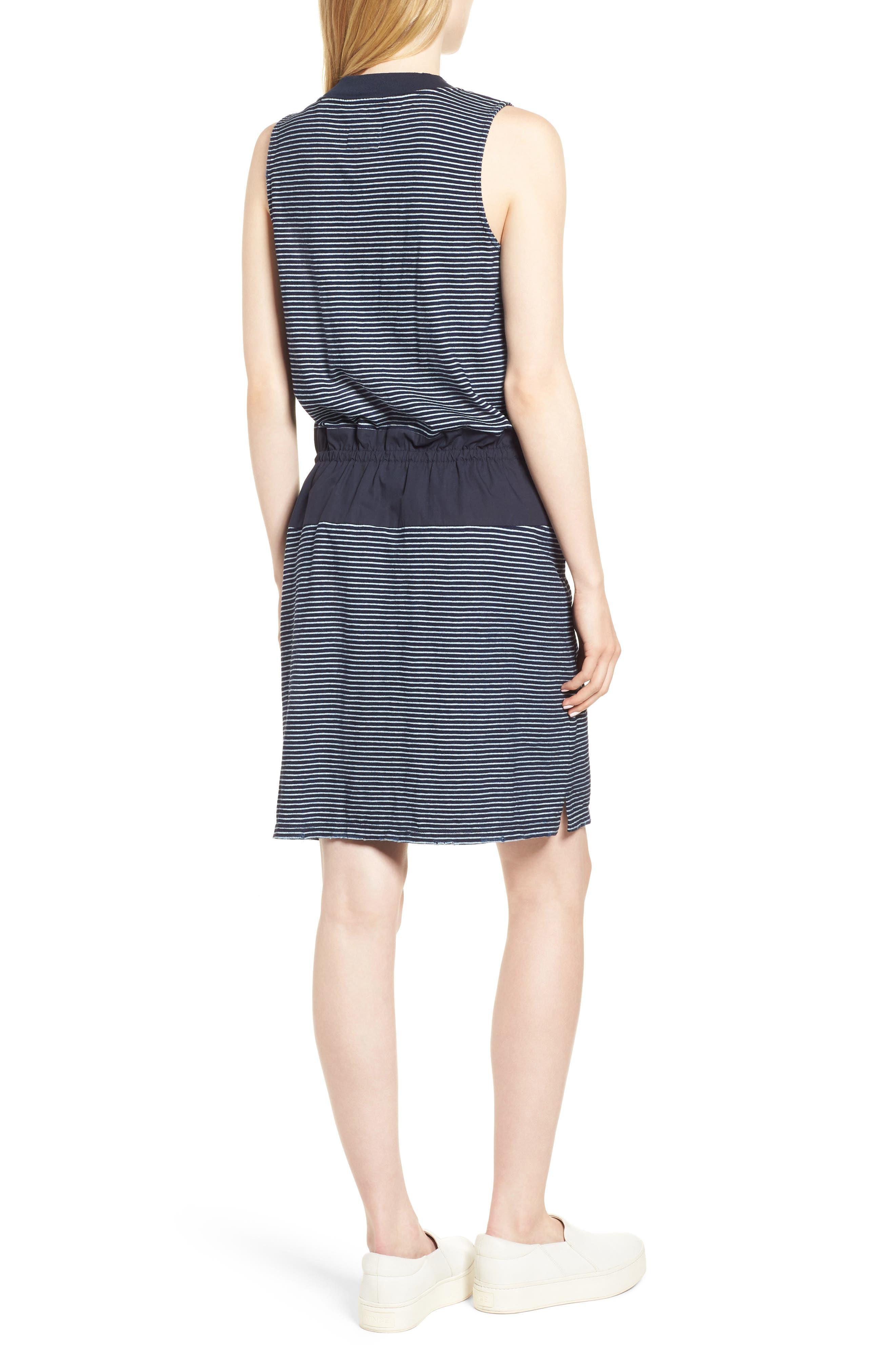 Mixed Media Drawstring Dress,                             Alternate thumbnail 2, color,                             495