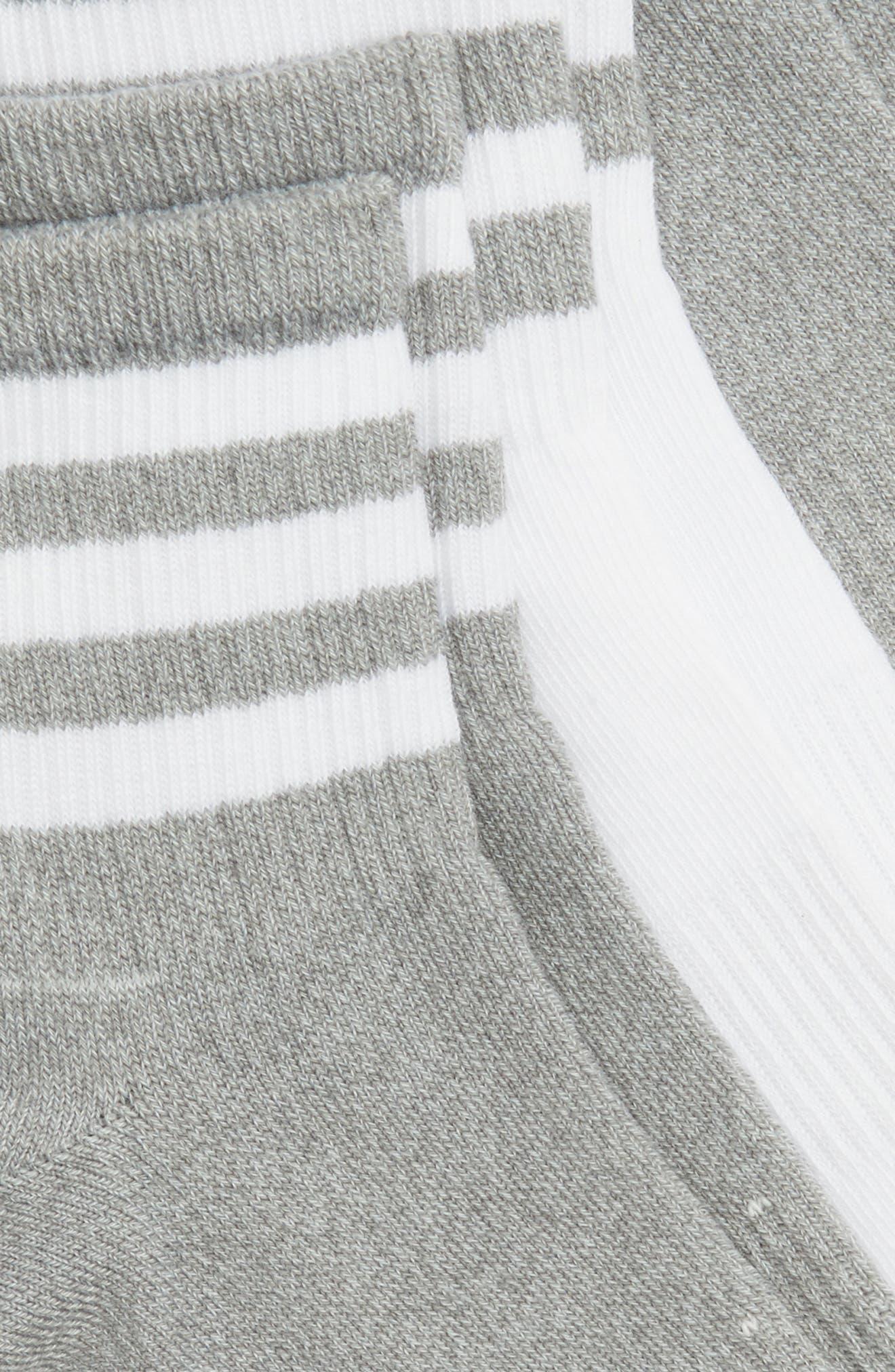 3-Pack 3-Stripe Ankle Socks,                             Alternate thumbnail 3, color,