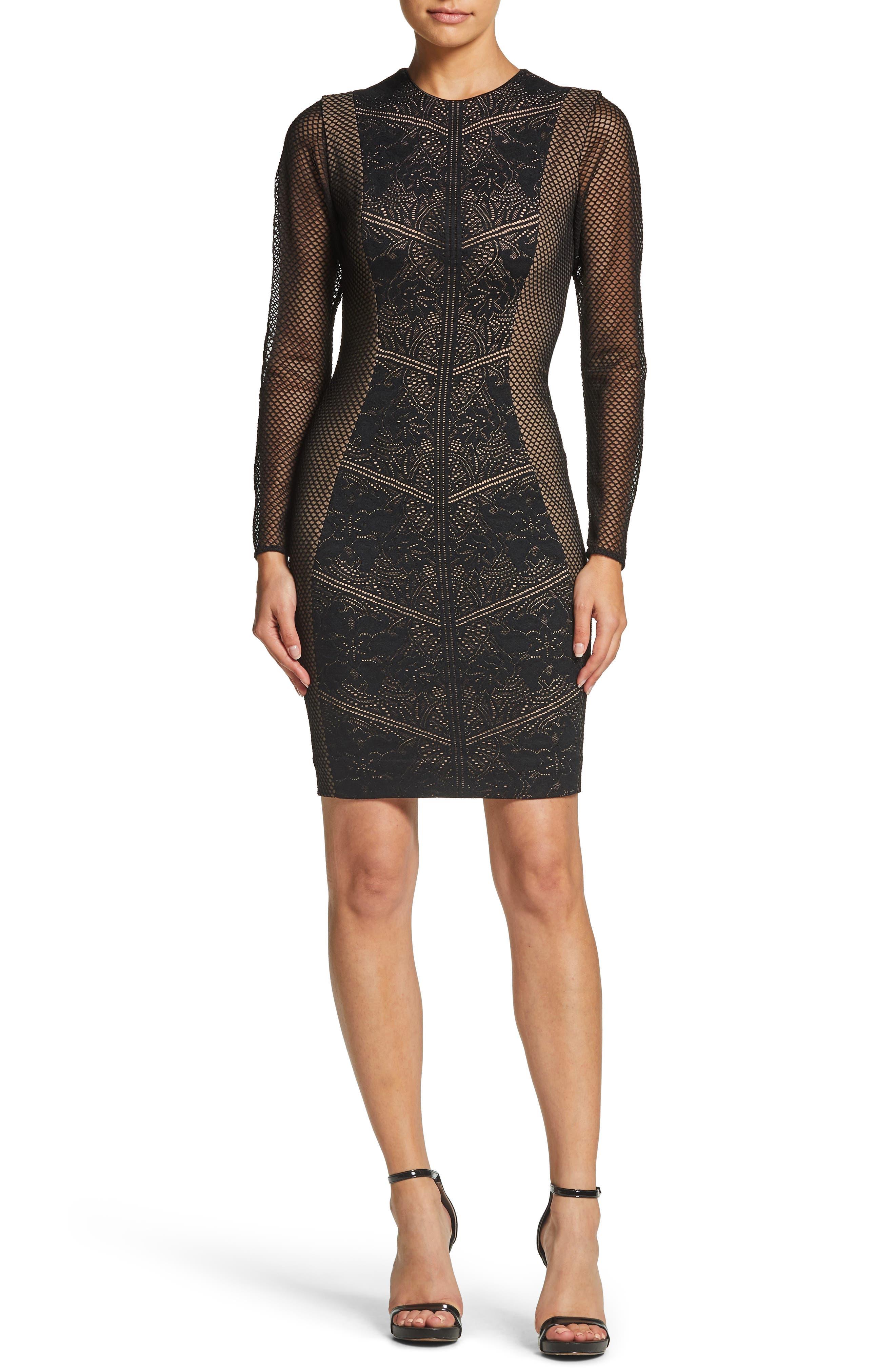 Dress The Population Sloane Body-Con Dress, Black