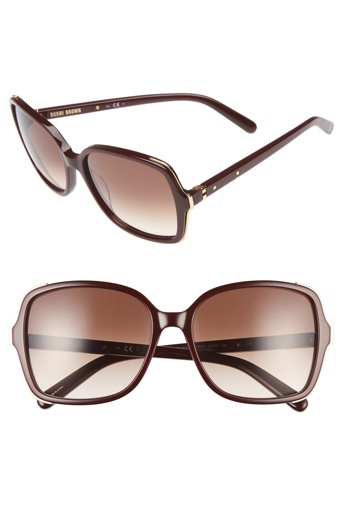 'The Alice' 57mm Sunglasses,                             Main thumbnail 4, color,