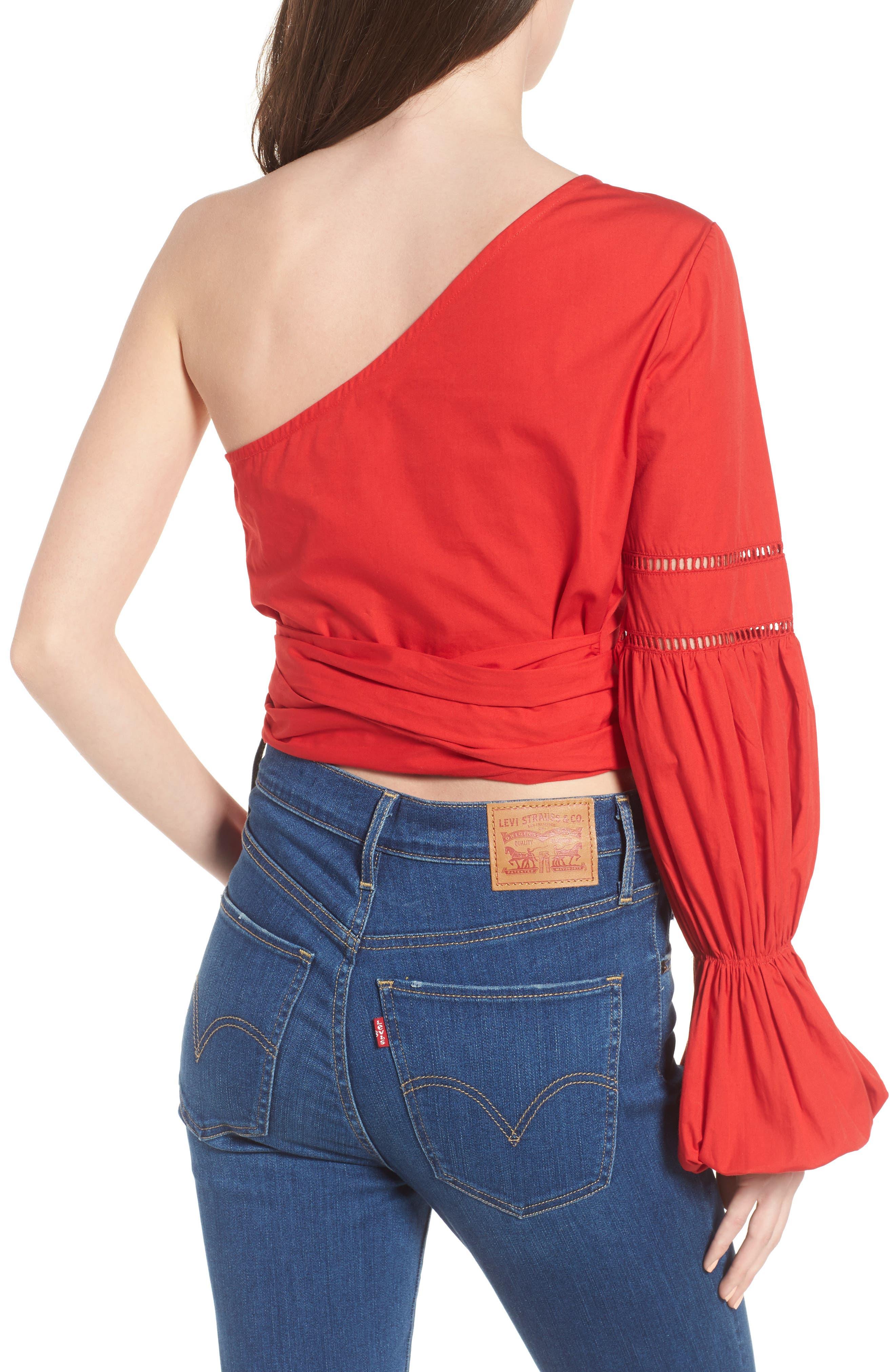 TULAROSA,                             Lola One-Shoulder Blouse,                             Alternate thumbnail 2, color,                             601